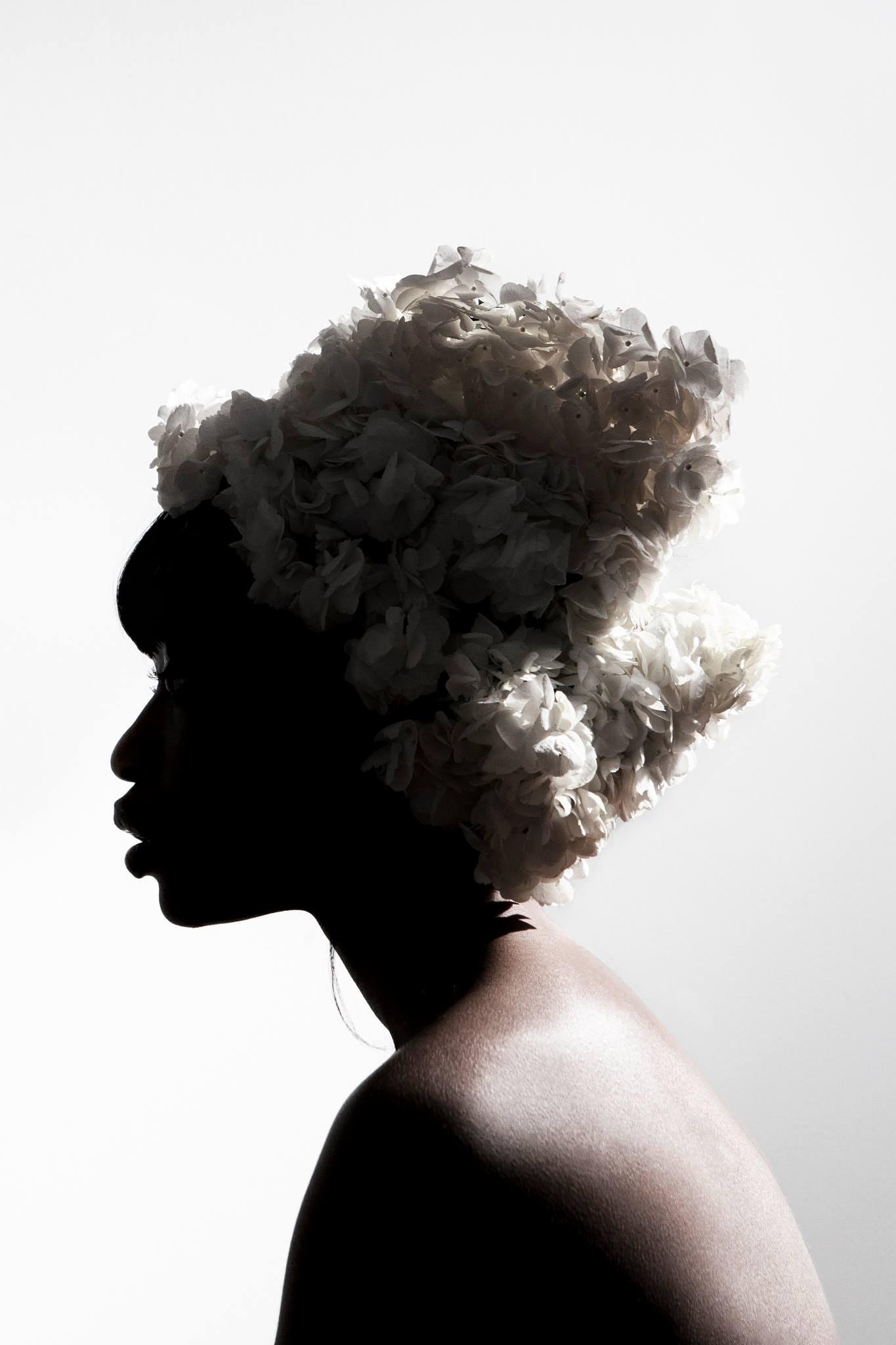Photo in Fashion #studio #hot #light #flower #white #portrait #profile