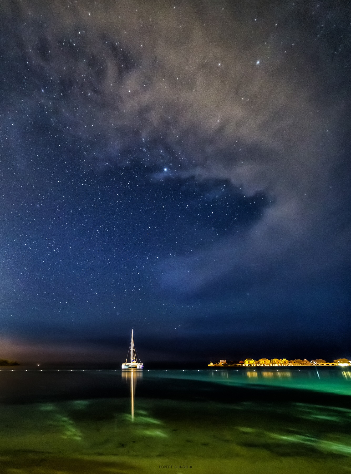 Night sky in Jamaica  by Robert Bilinski