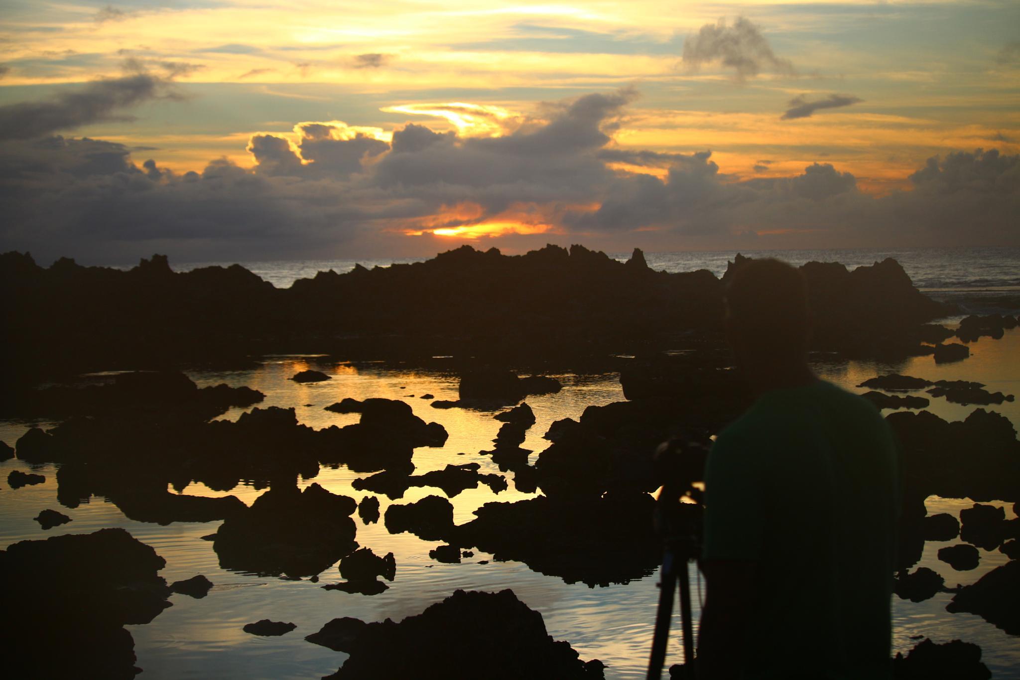 Photo in People #sunset #ocean #photographer