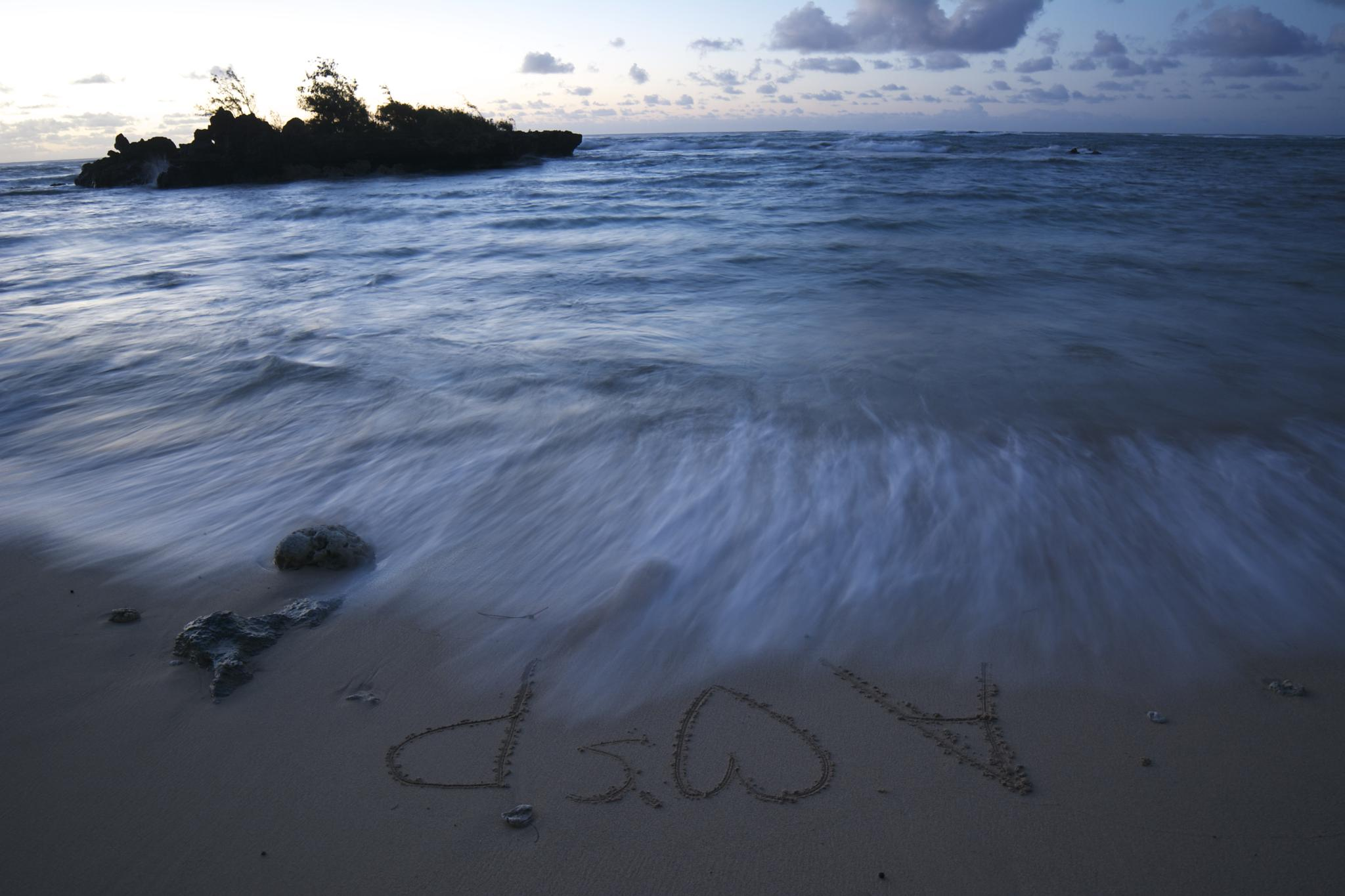 Photo in Sea and Sand #beach #hawaii #long exposure