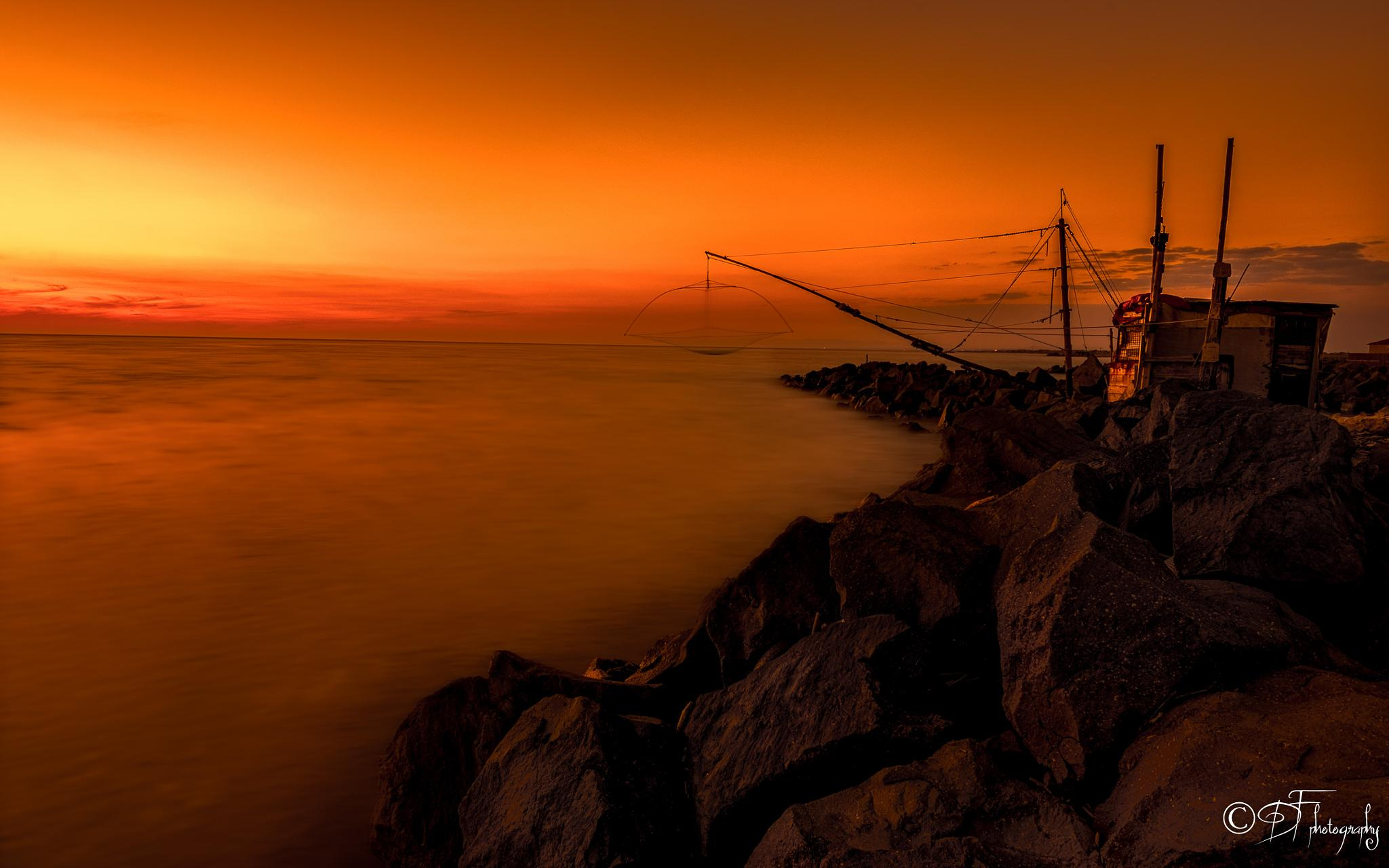 Sunset on the tyrrhenian sea by DANIEL F