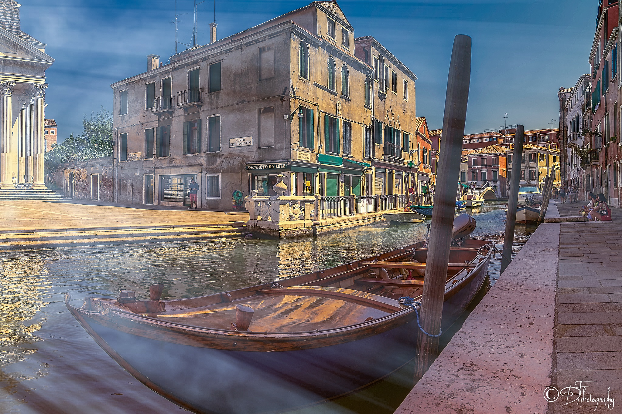 boats on the grand chanel - venice by DANIEL F