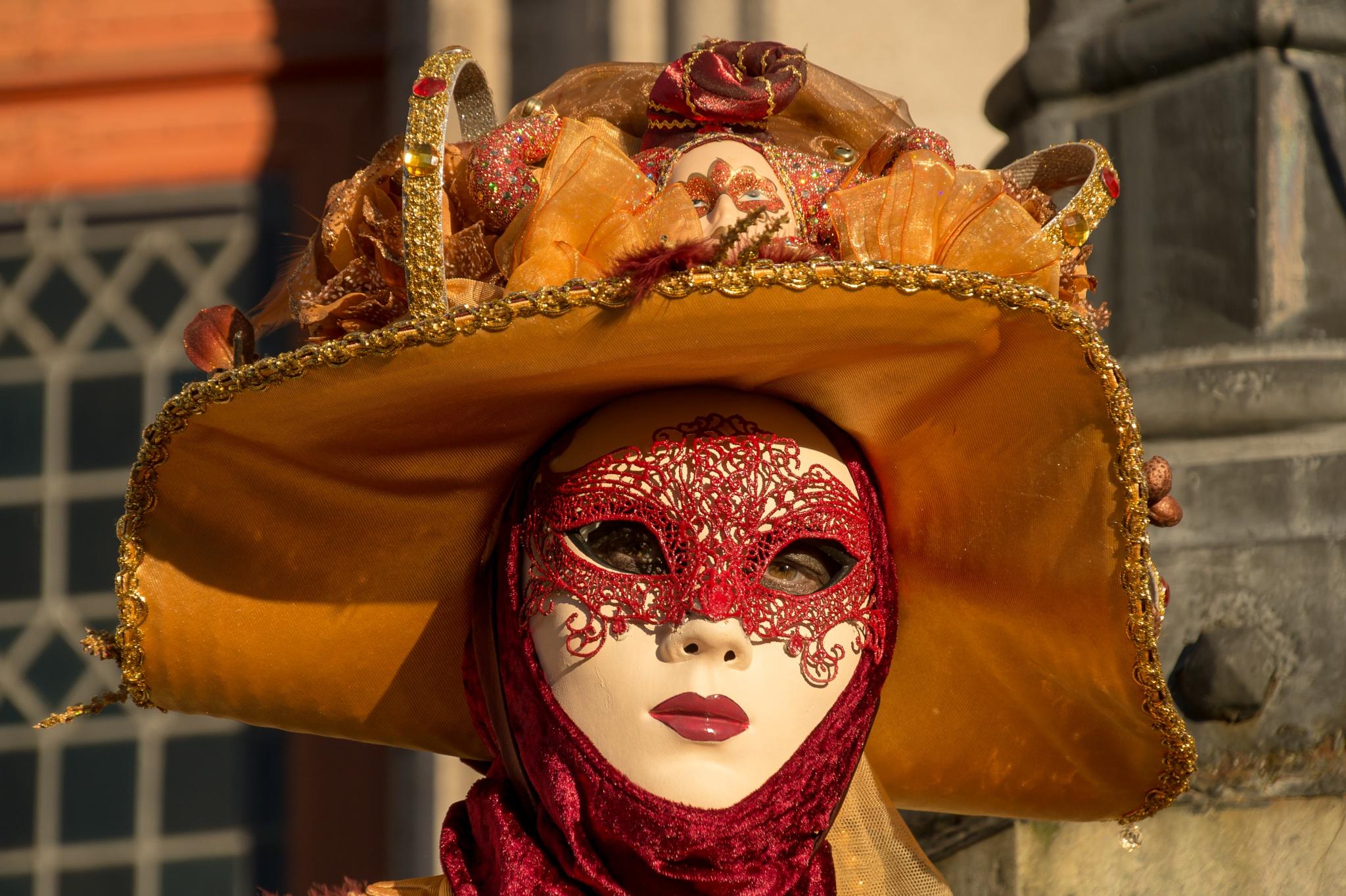 Lady in orange by rvanhegelsom