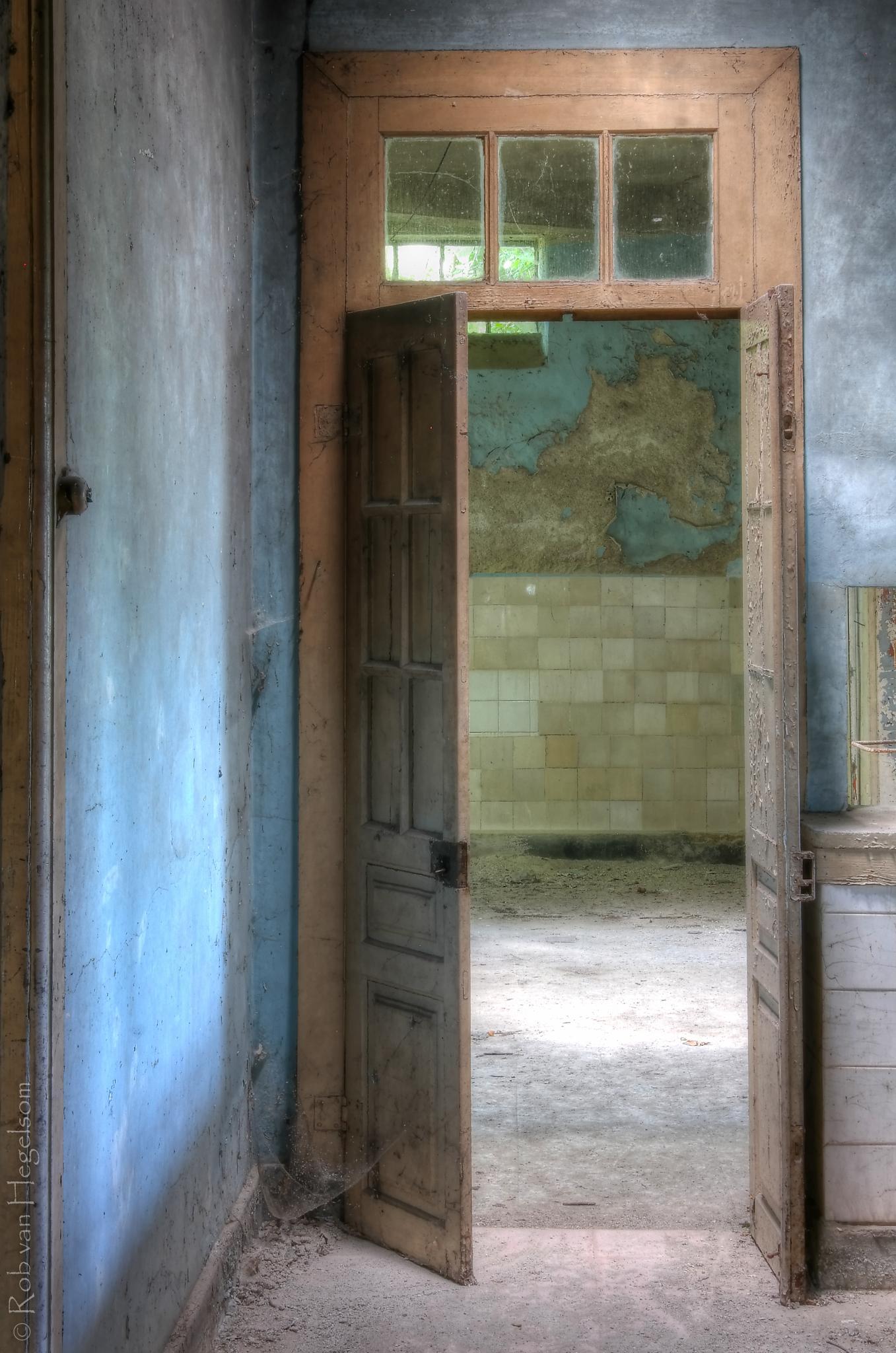 Through the door  by rvanhegelsom