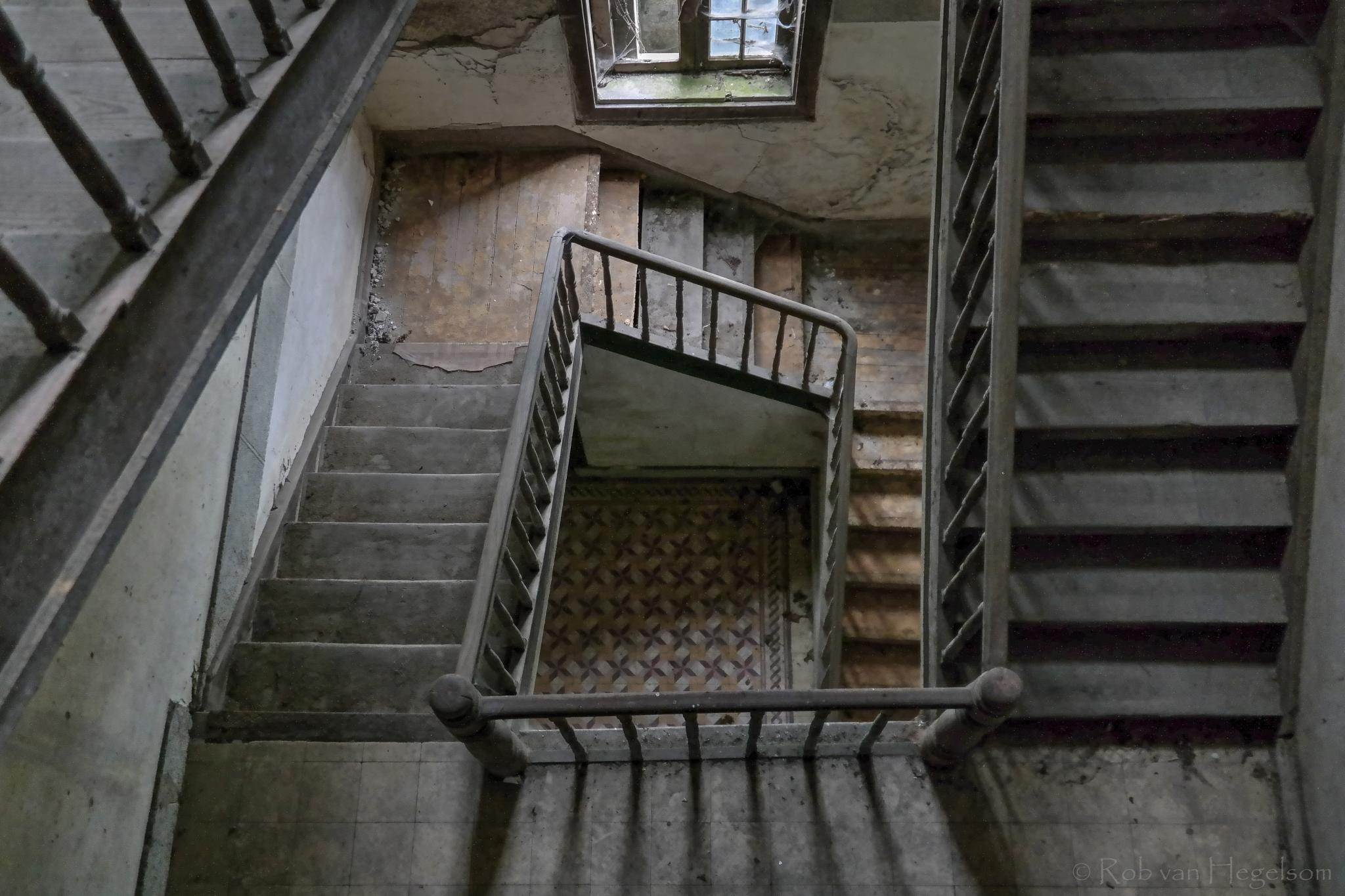 Abandoned stairs  by rvanhegelsom