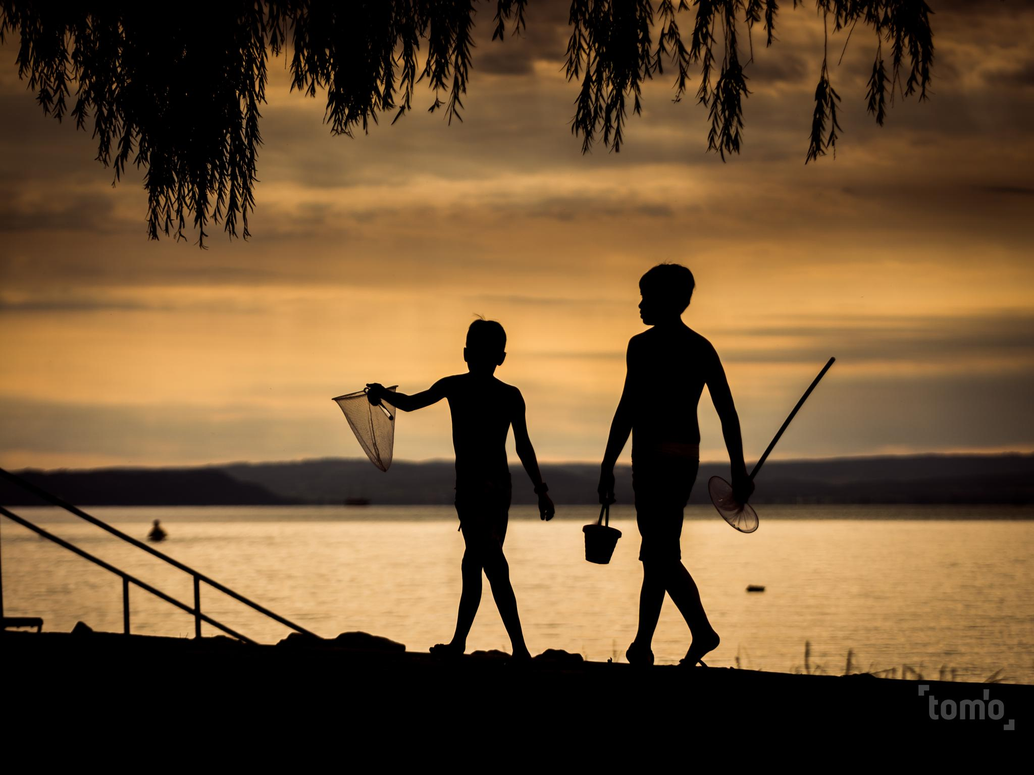 going fishing after sunset by Tomek Orylski