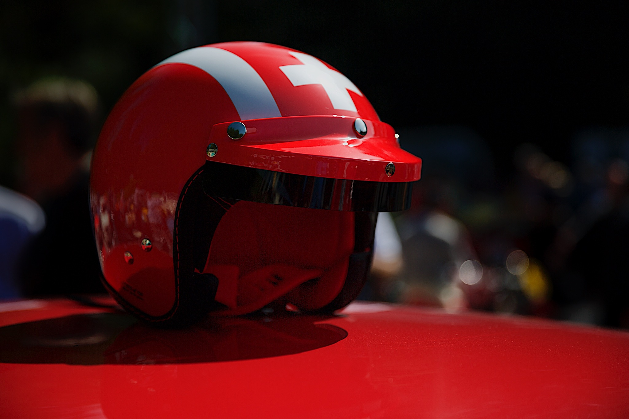 Red helmet by Tom K