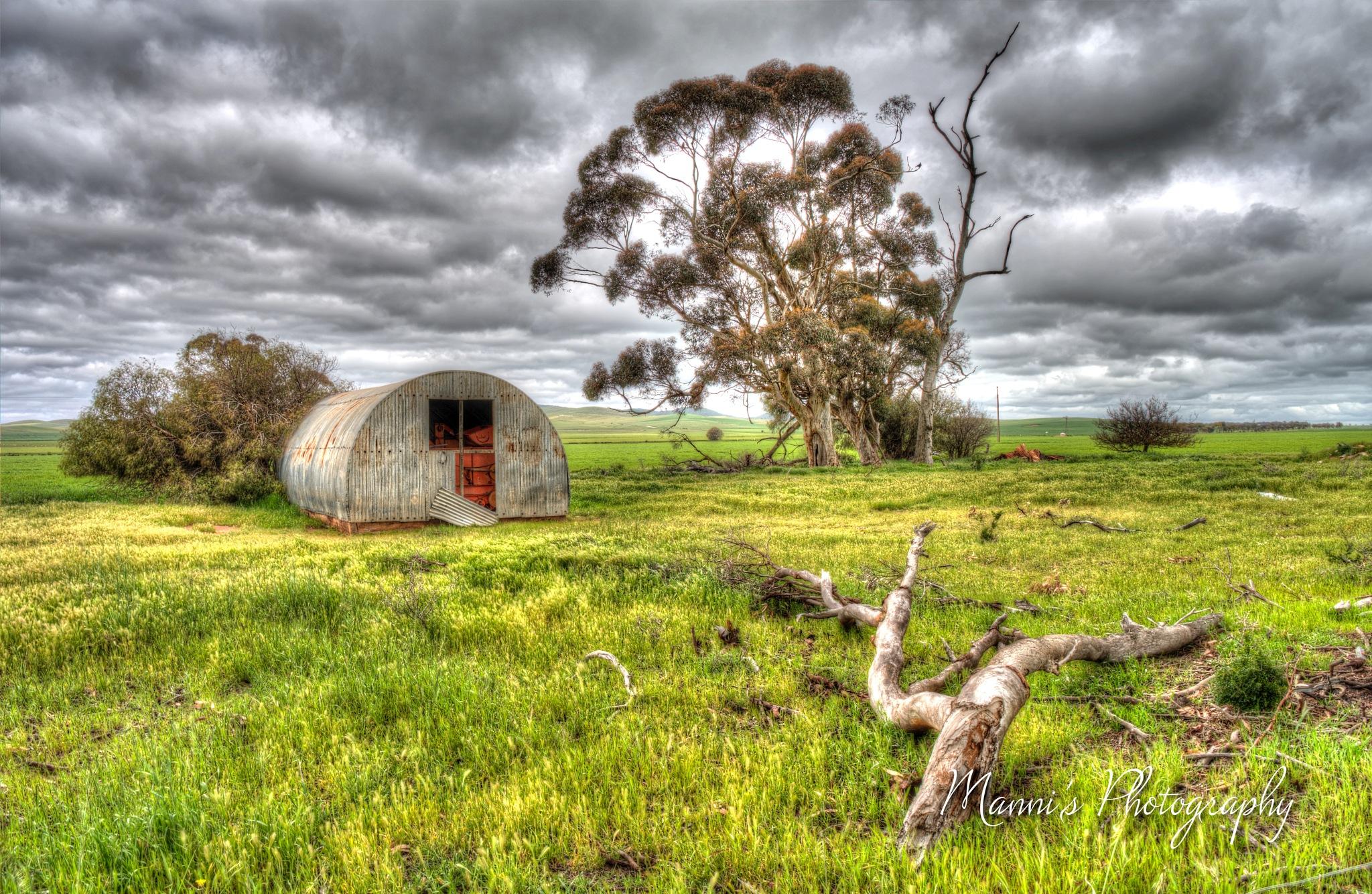 Metal Arched Farm Building by Manni