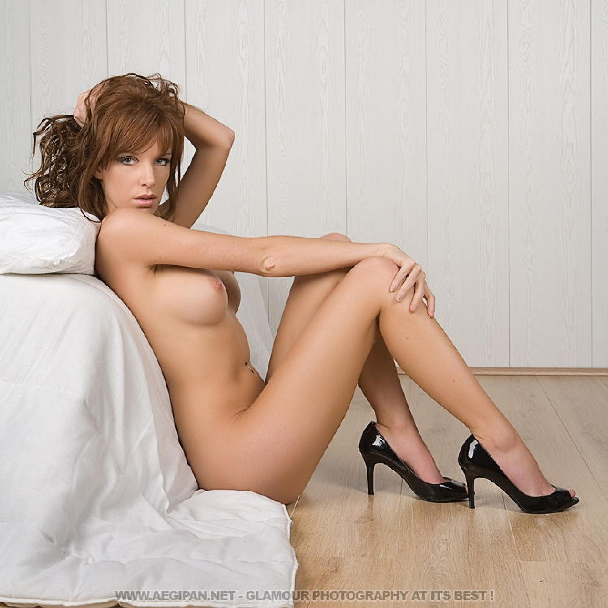 Photo in Nude #aegipan #glamour #nude #artistic #hot #sexy #redhead #woman #girl #babe #topless #bottomless #high heels #bed #pretty #sensual #model