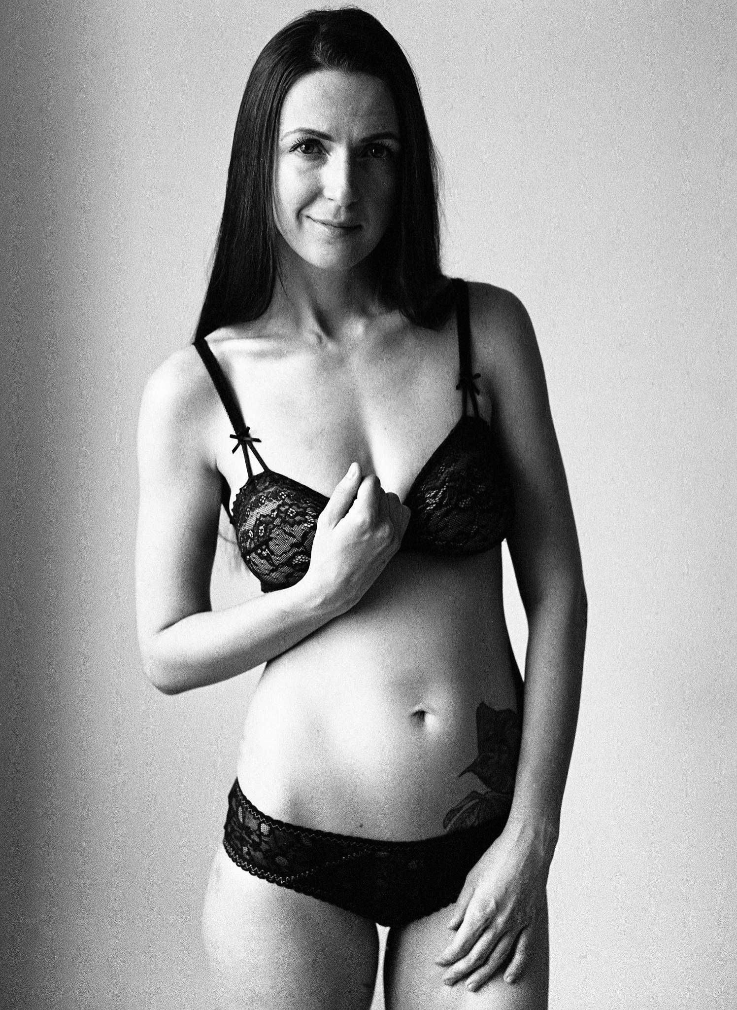 Photo in Portrait #female #one person #silhouette #black and white #bw #film #filmisnotdead #portrait