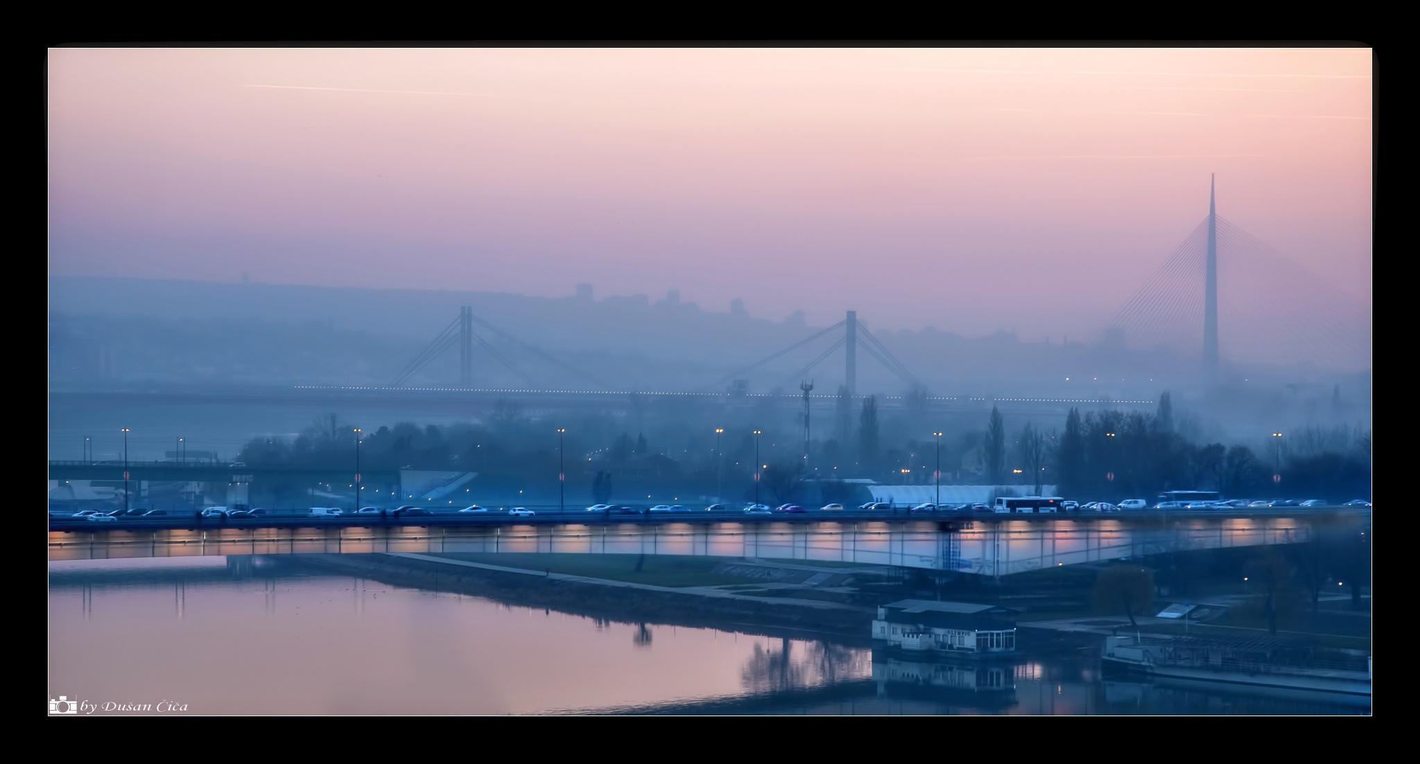 Belgrade bridges by Dušan Čiča