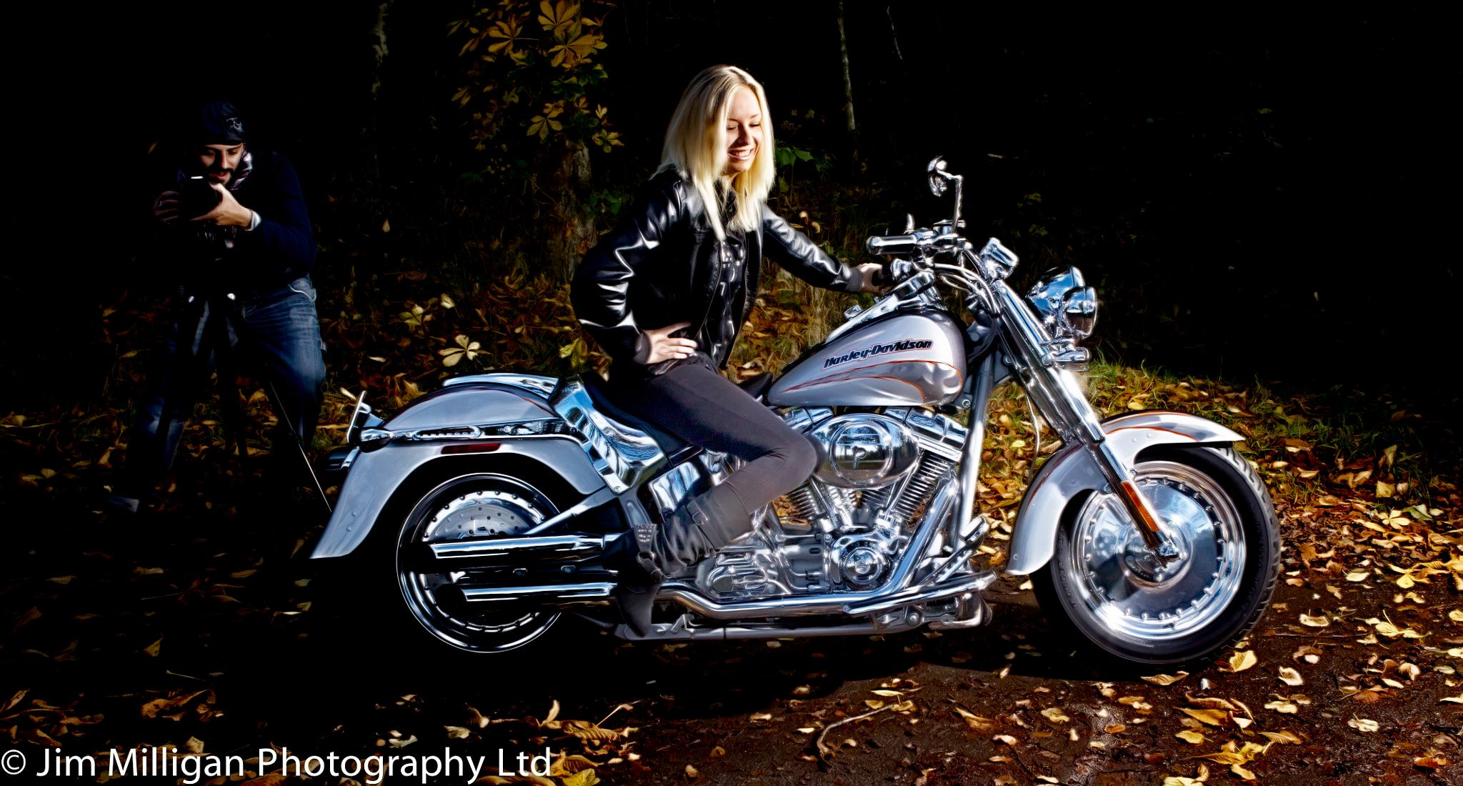 Photo in Portrait #harley davidson #female #photographer