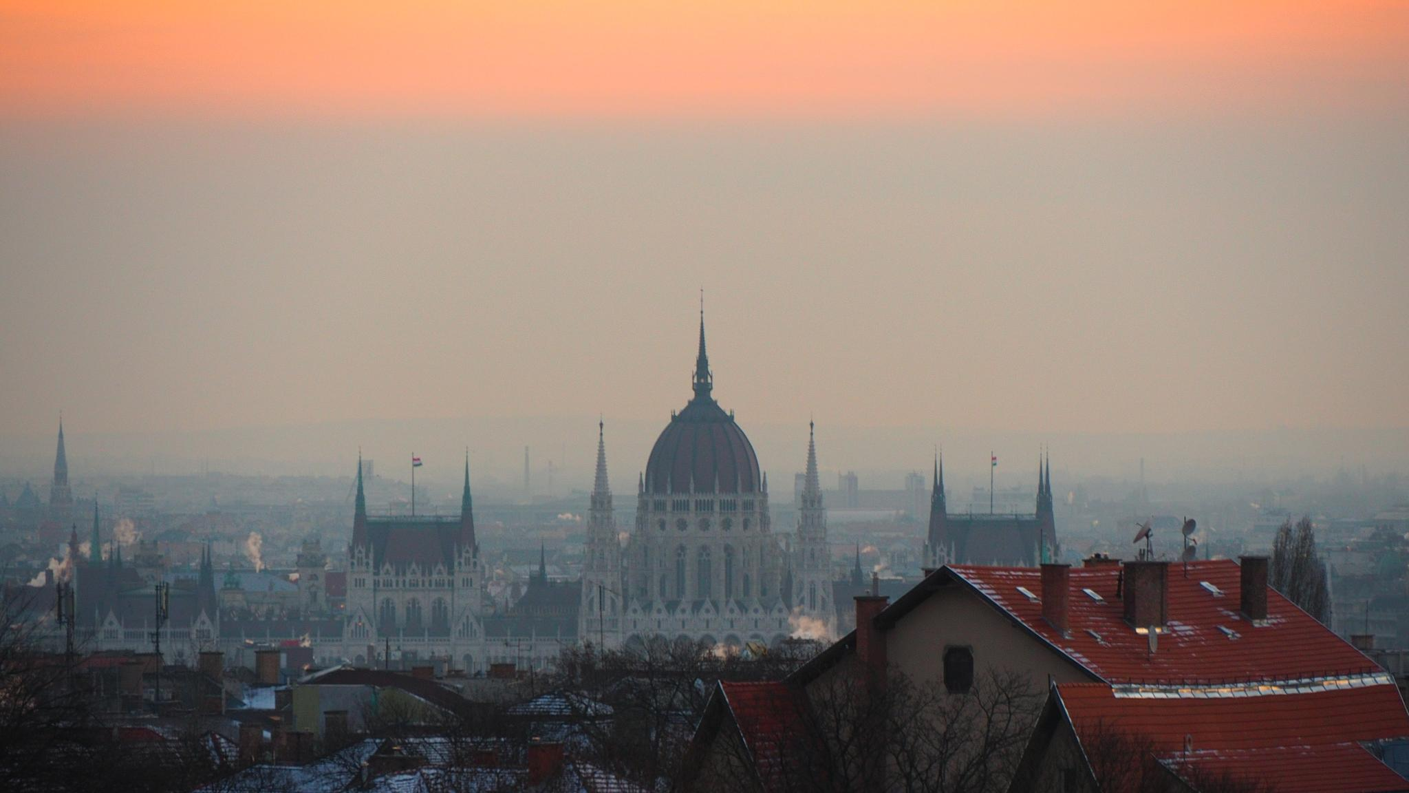 Photo in Cityscape #budapest #morning #dawn #sunrise