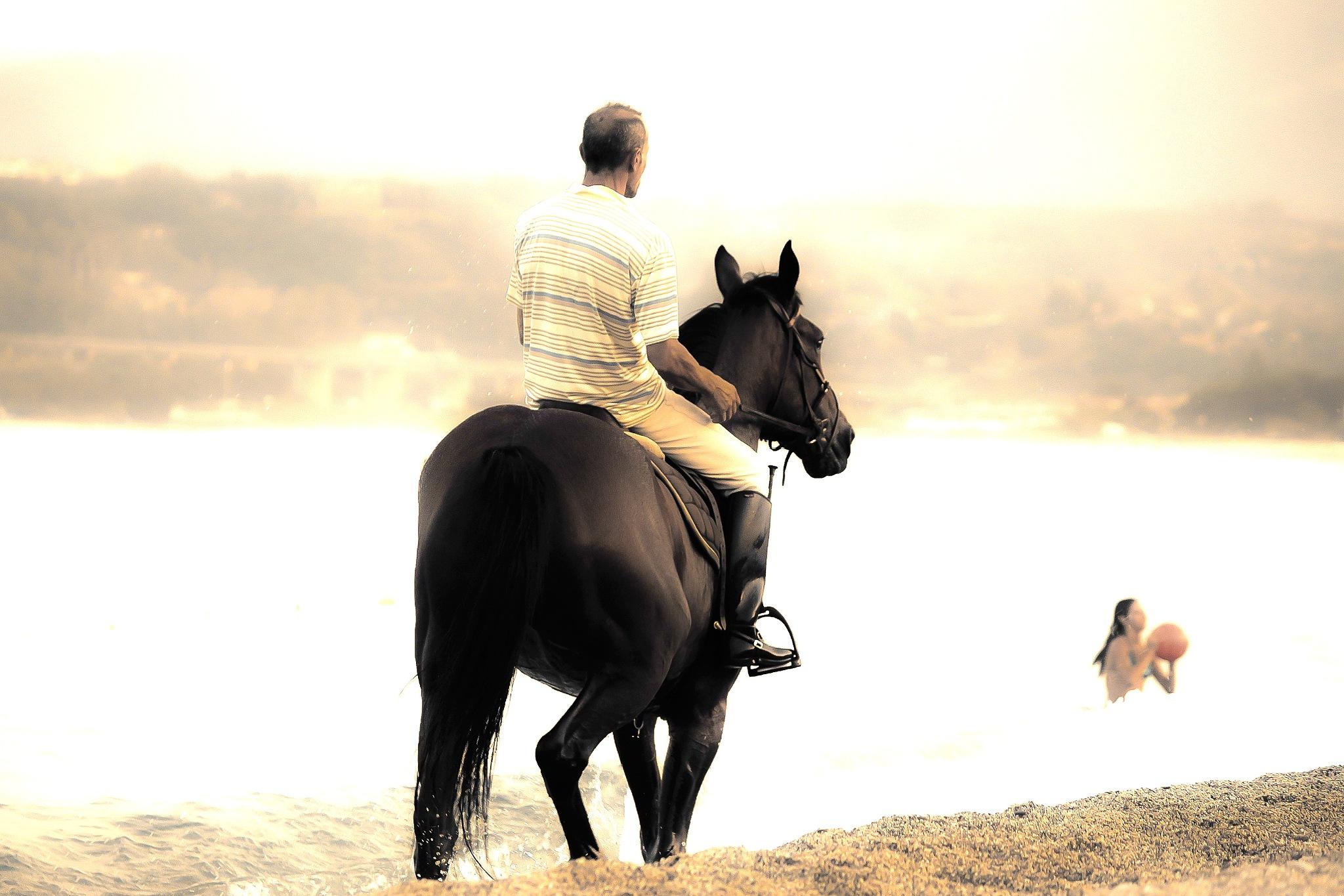 Ride on the seashore by Cesare Vatrano