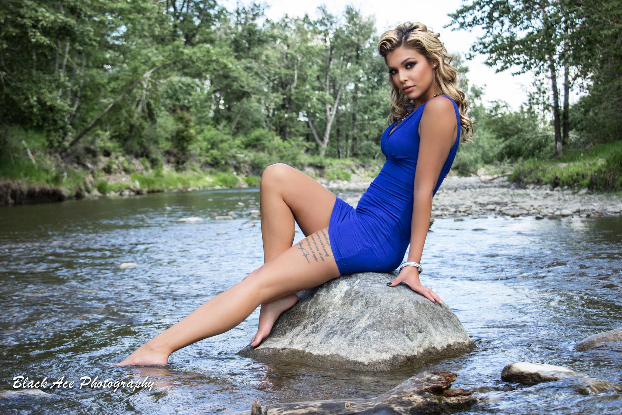 Photo in People #summer #black ace photography #model #river #water