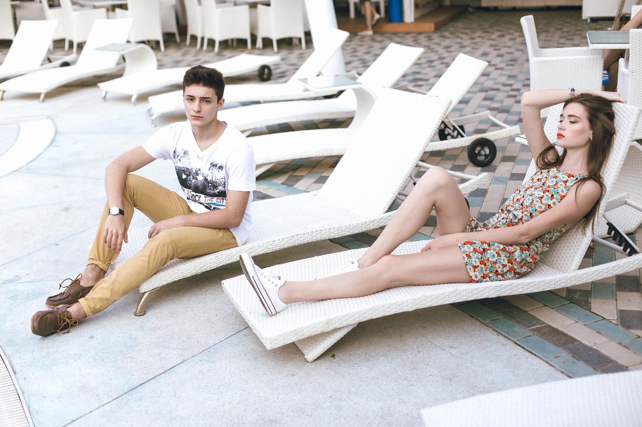 Photo in Fashion #girl #boy #chill #summer #pool #hot #style #glamour #beauty #fashion #teen #young