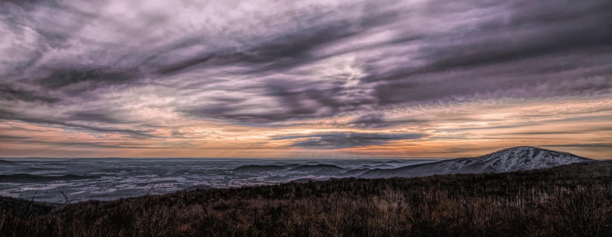 Winter Sky - Shenandoah National Park by JohnEllingson