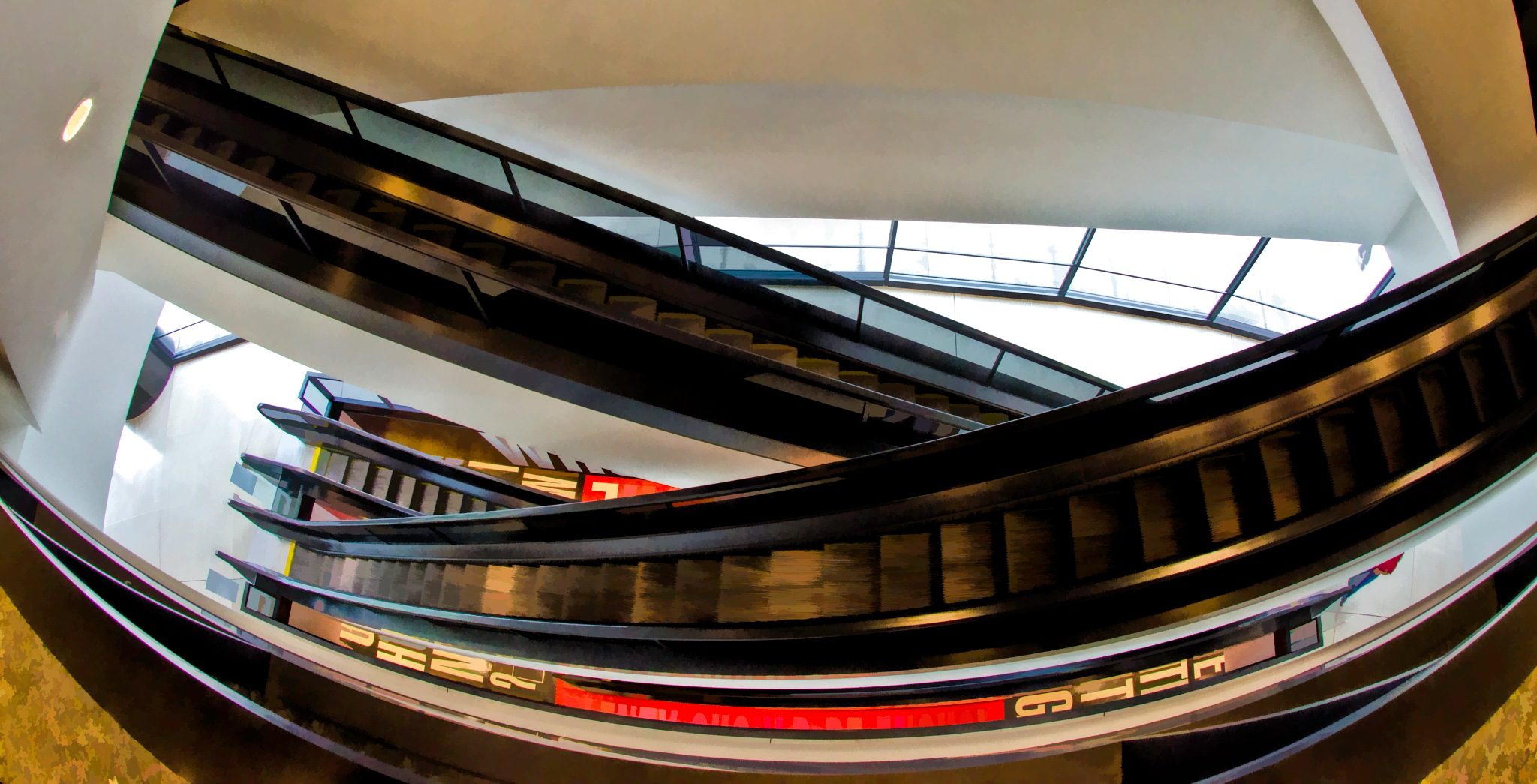 Escalator Angles. by JohnEllingson