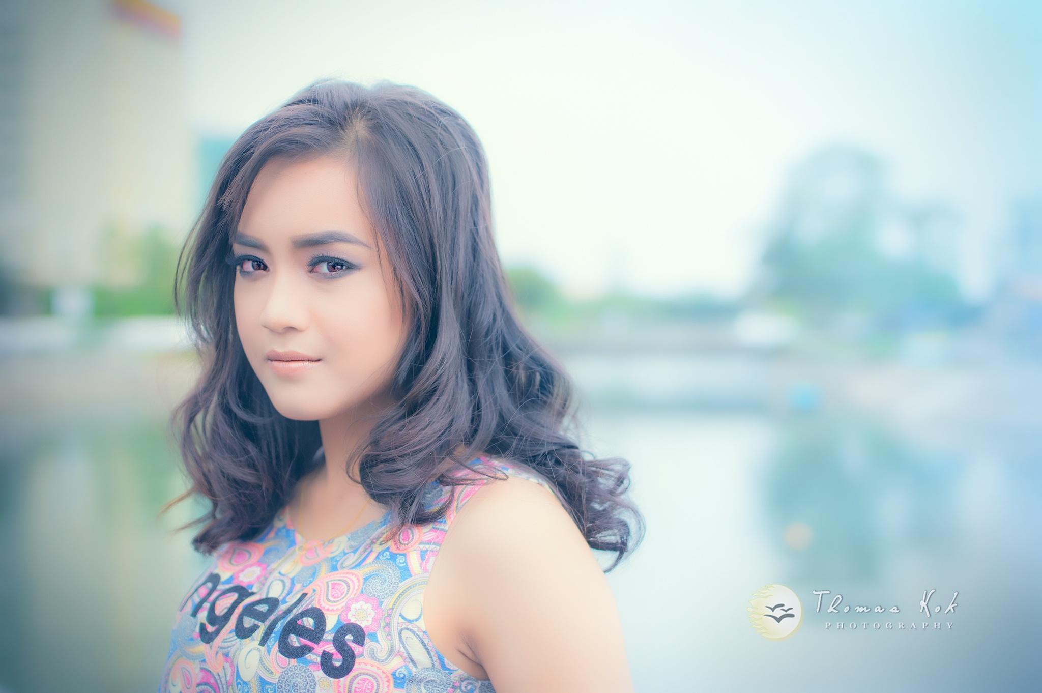 Photo in Portrait #portrait #model #beauty #hightkey #outdoor