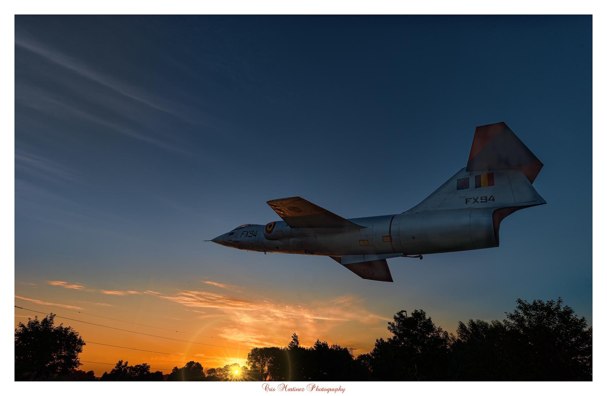 F-104G Starfighter at Sunrise. by Cris Martinez