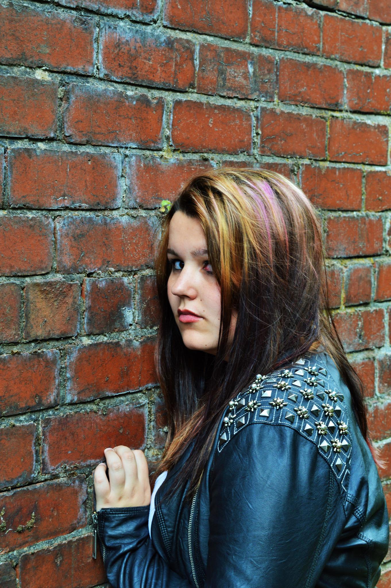 Red Brick Portrait by Danielle Byatte