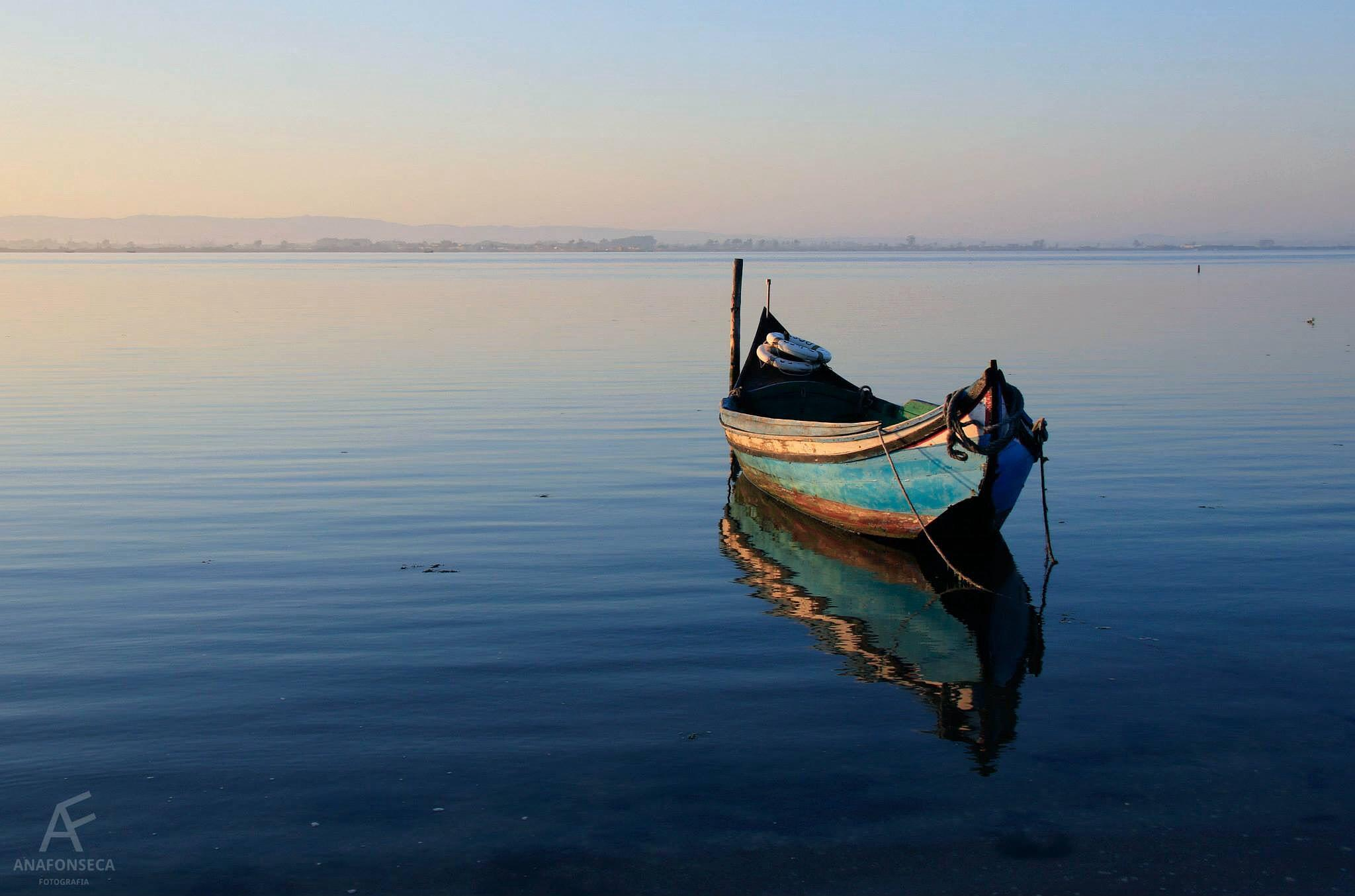 Photo in Sea and Sand #boat #water #blue