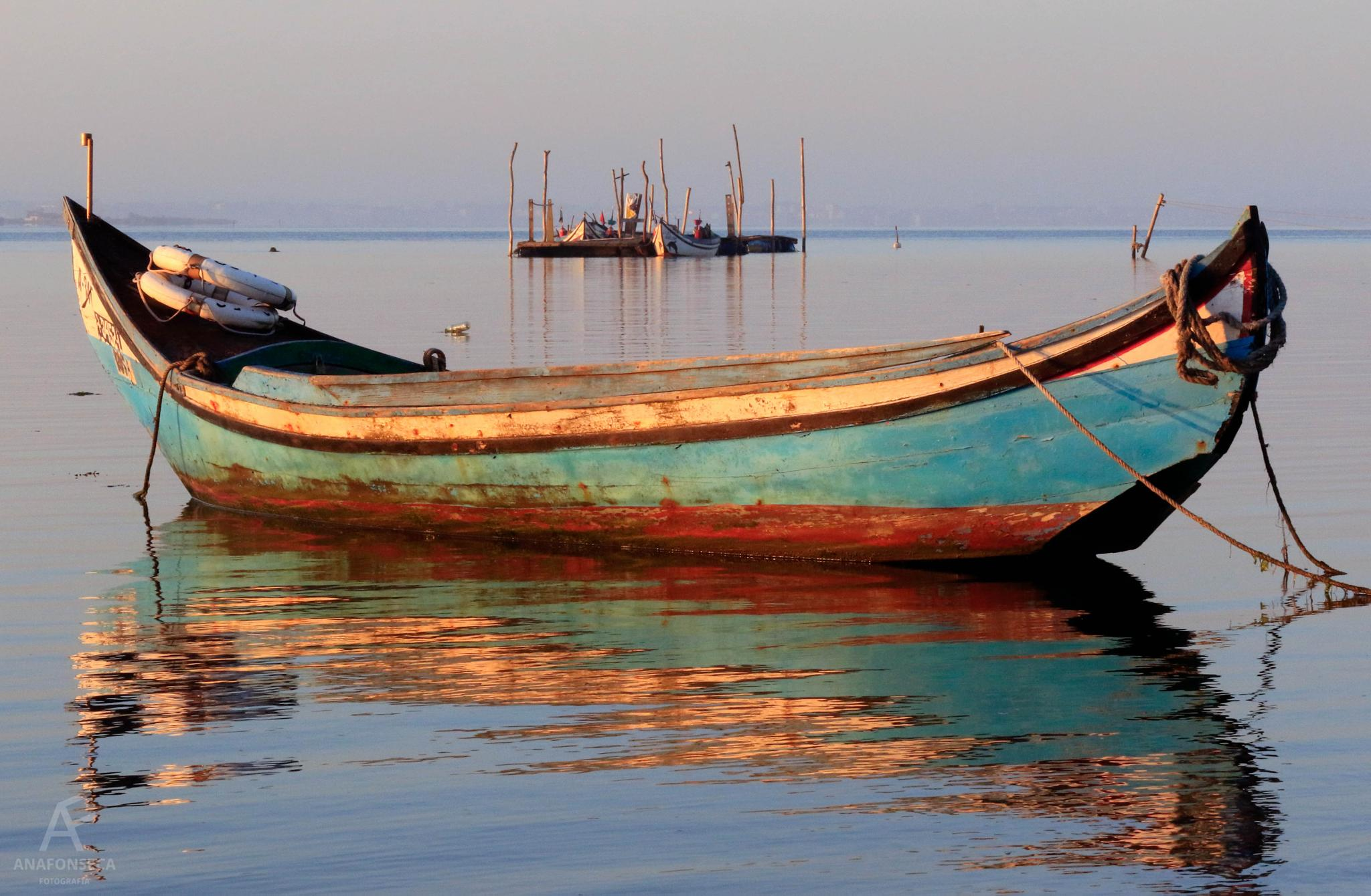 Photo in Sea and Sand #boat #sea #water