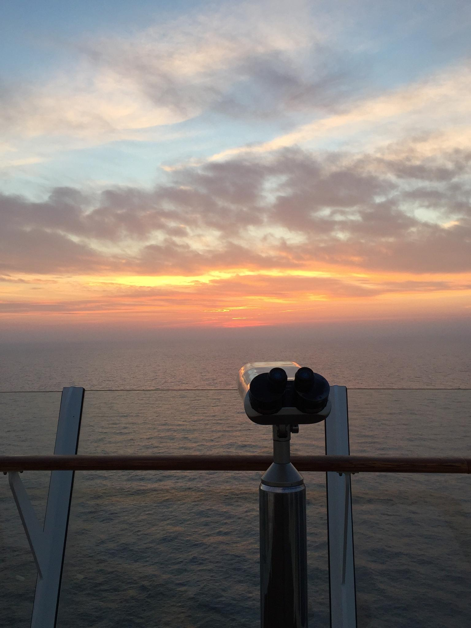 Sunset view from Allure of the Seas by Jason R. Rich