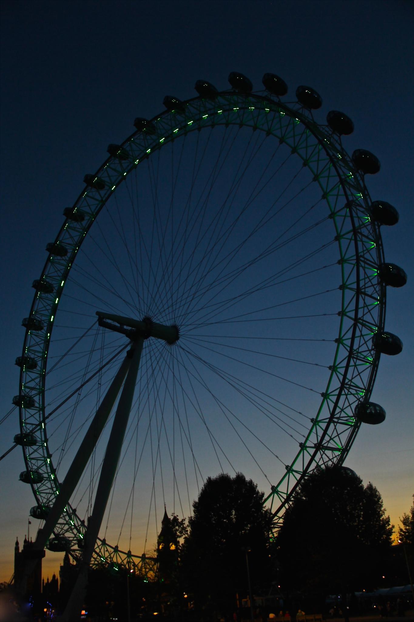 London Eye at Sunset by Jason R. Rich