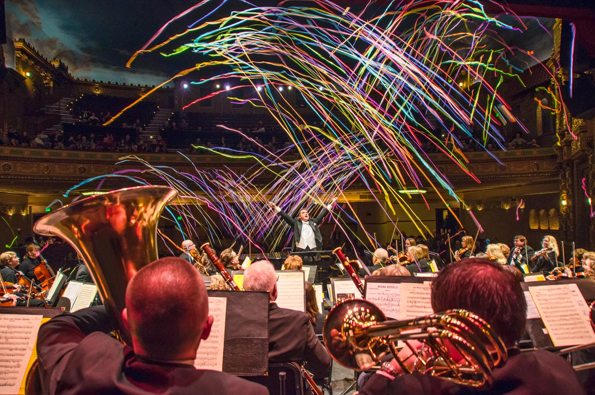Photo in Concert #symphony #music #streamers #patriotic