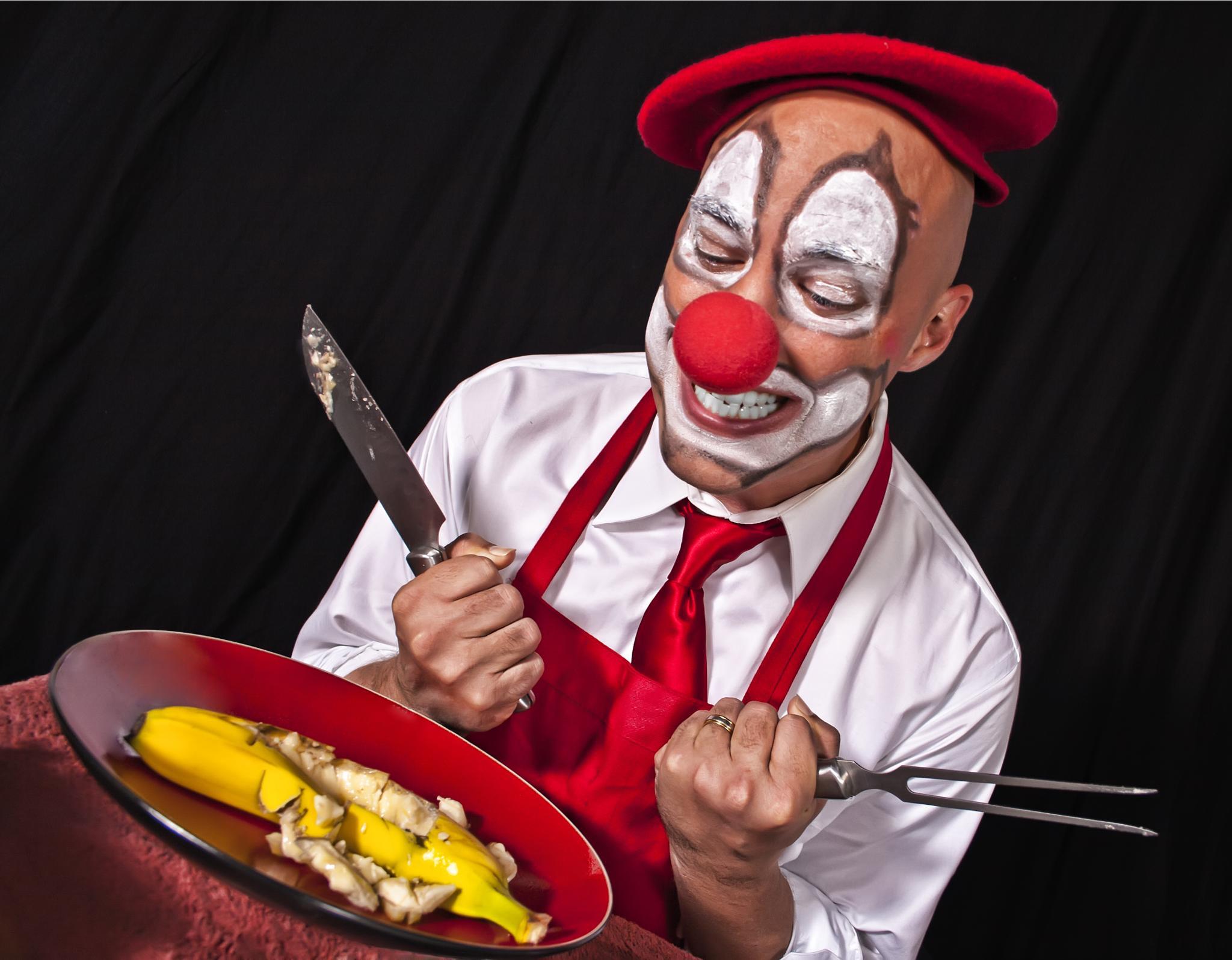 Photo in Fine Art #circus #clown #banana