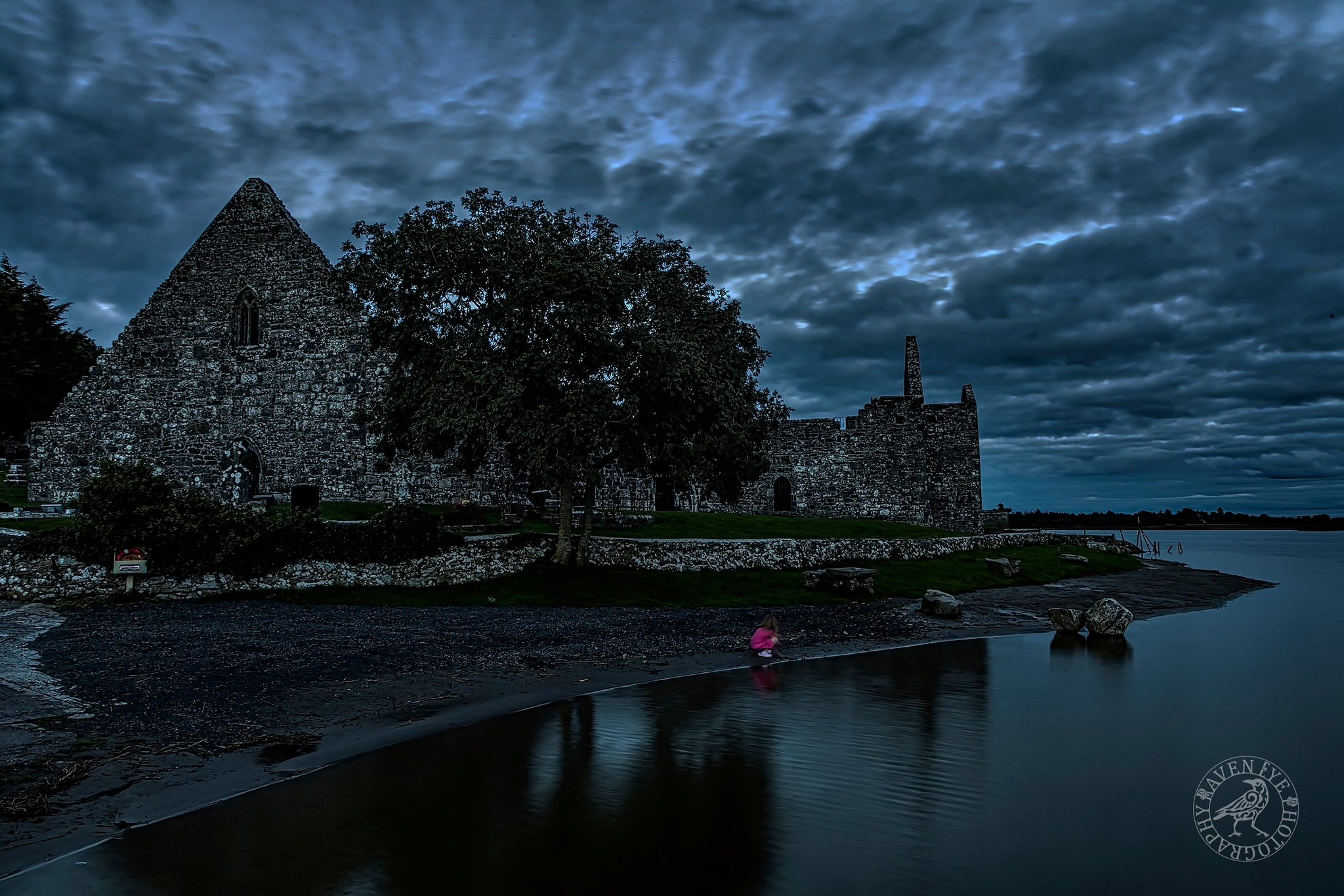 Child Playing at Dusk by Declan Byrne