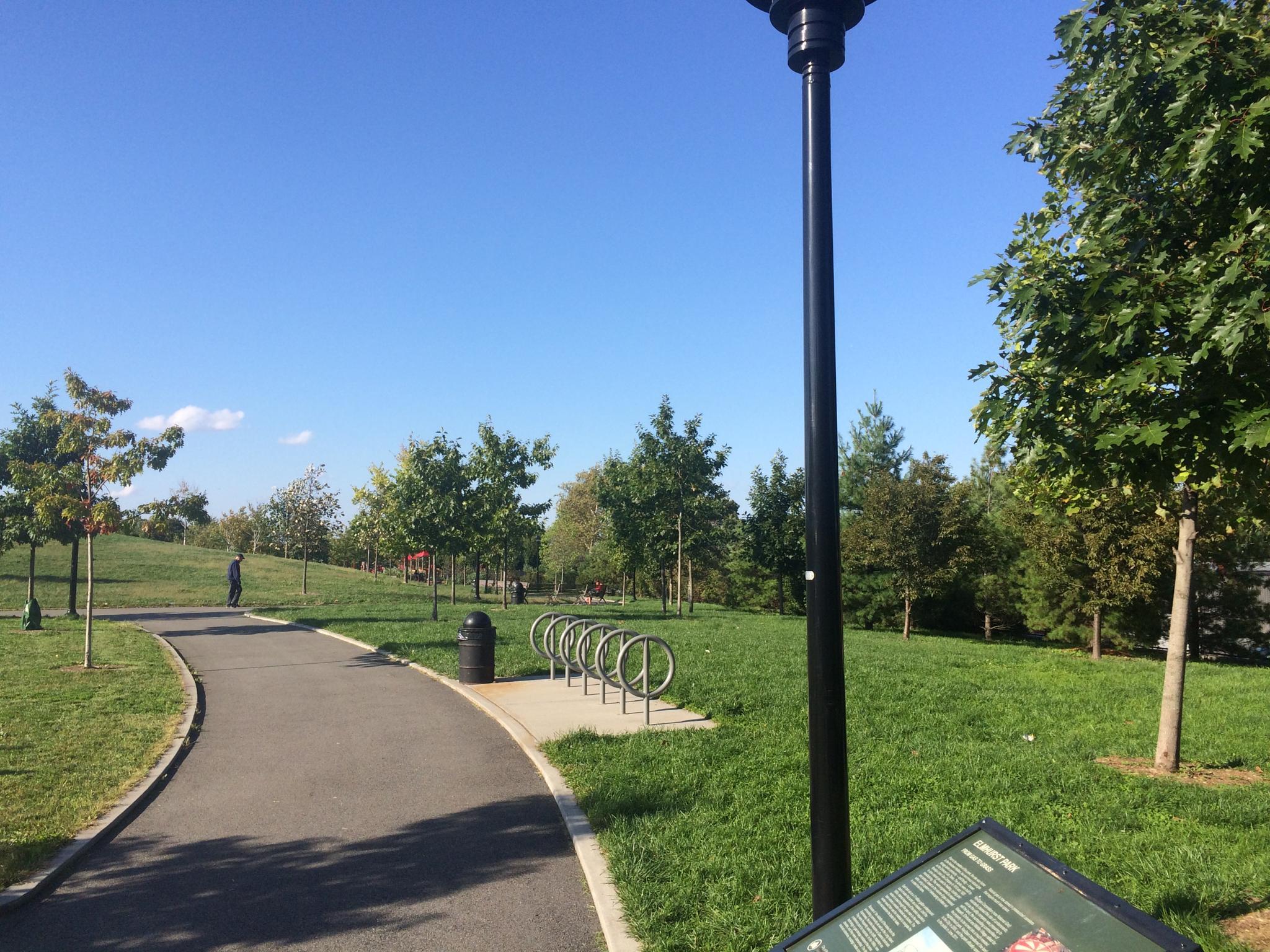 Elmhurst Park South Entrance by Owen Kelly