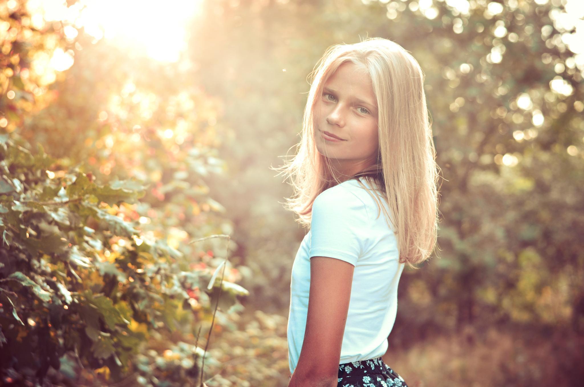 Photo in Portrait #portrait #people #girl #summer #kids