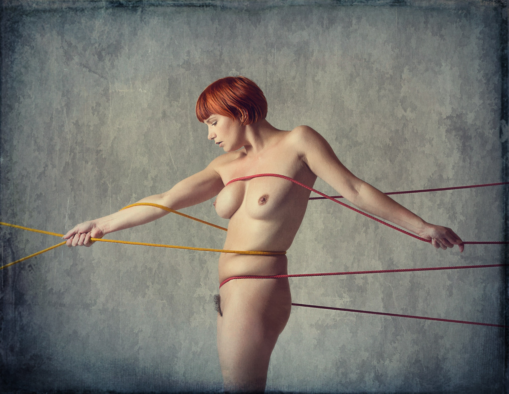 Photo in Nude #nude #rope #creative #girl #model