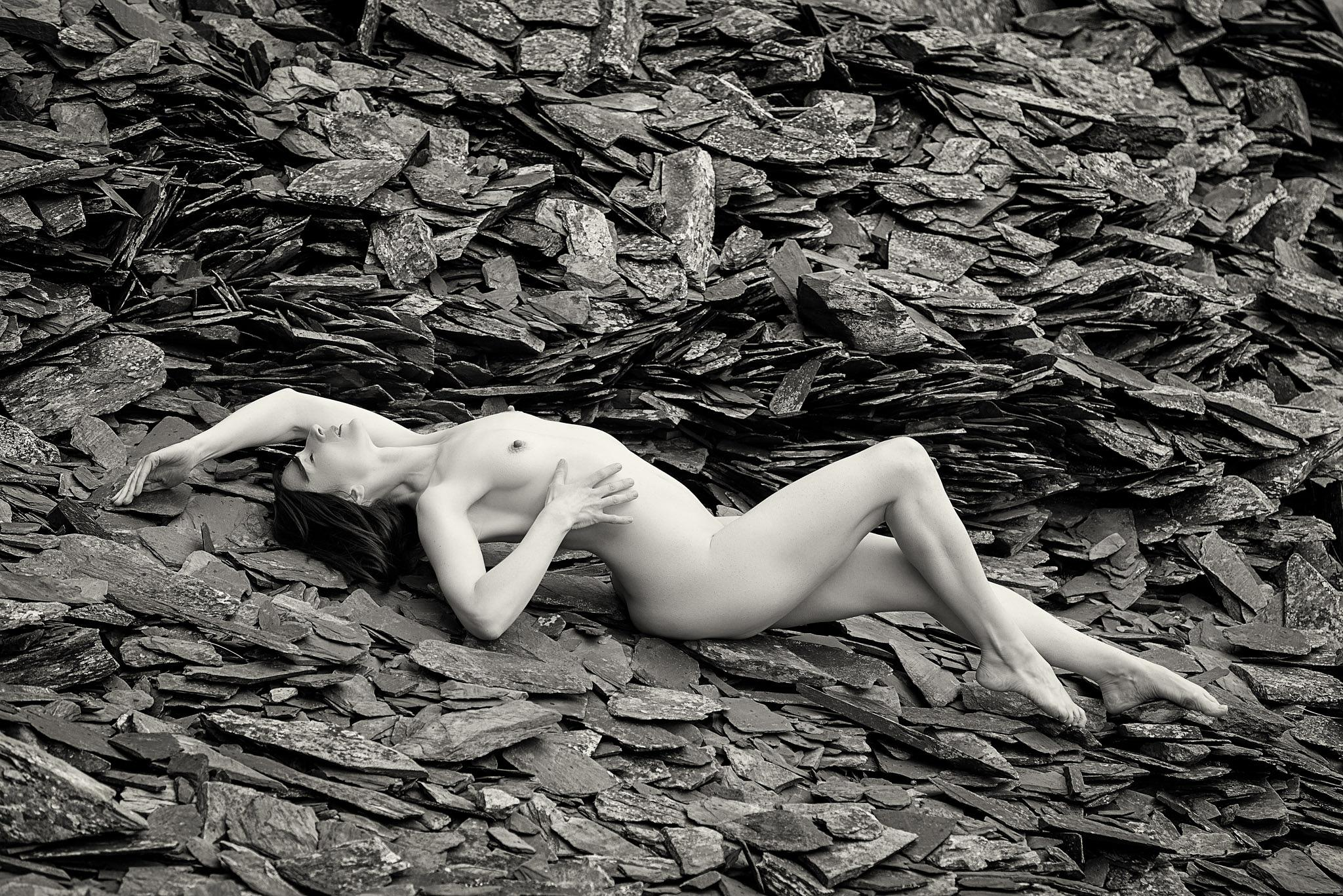 Photo in Nude #nude #outdoor #model #b&w