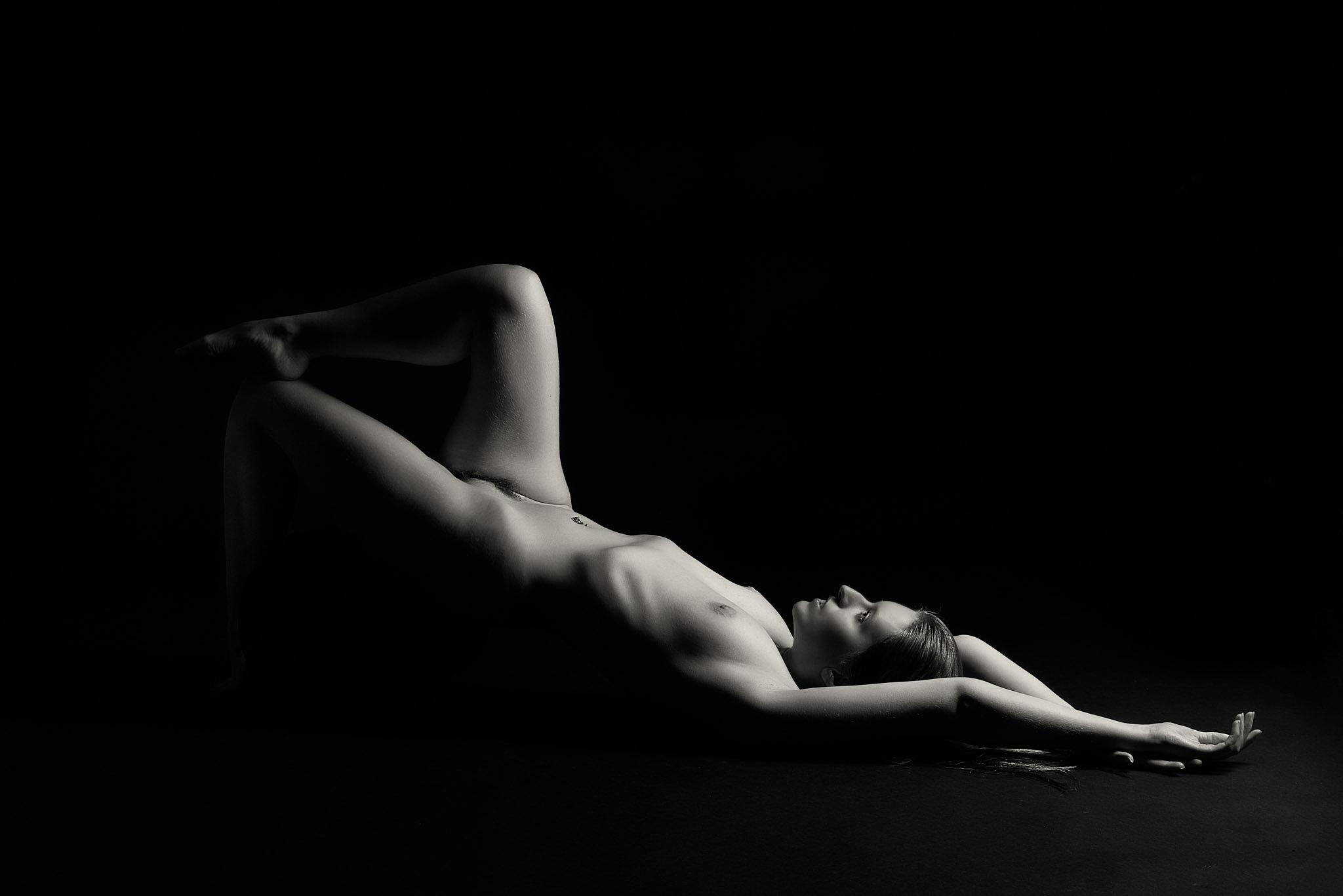 Photo in Nude #nude #studio #model #b&w
