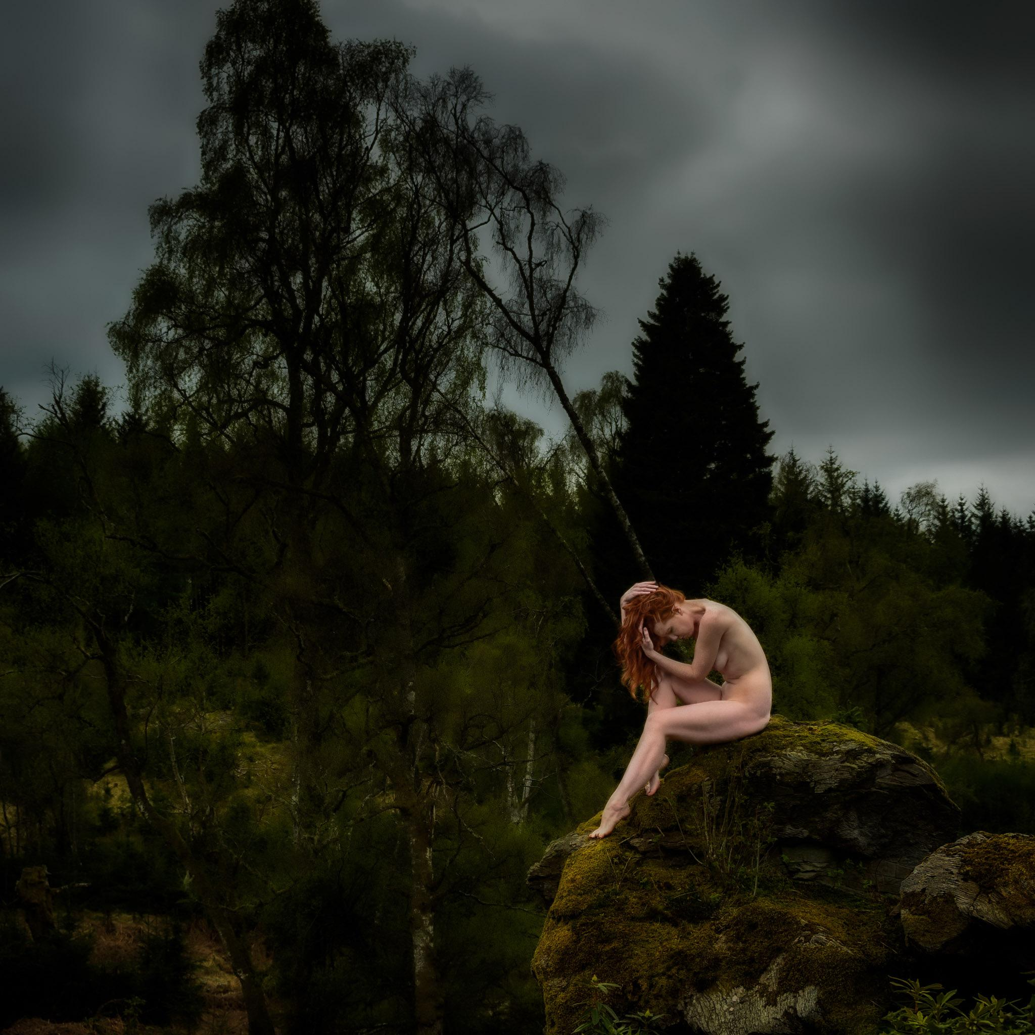 Photo in Nude #nude #forest #outdoors #redhead #model