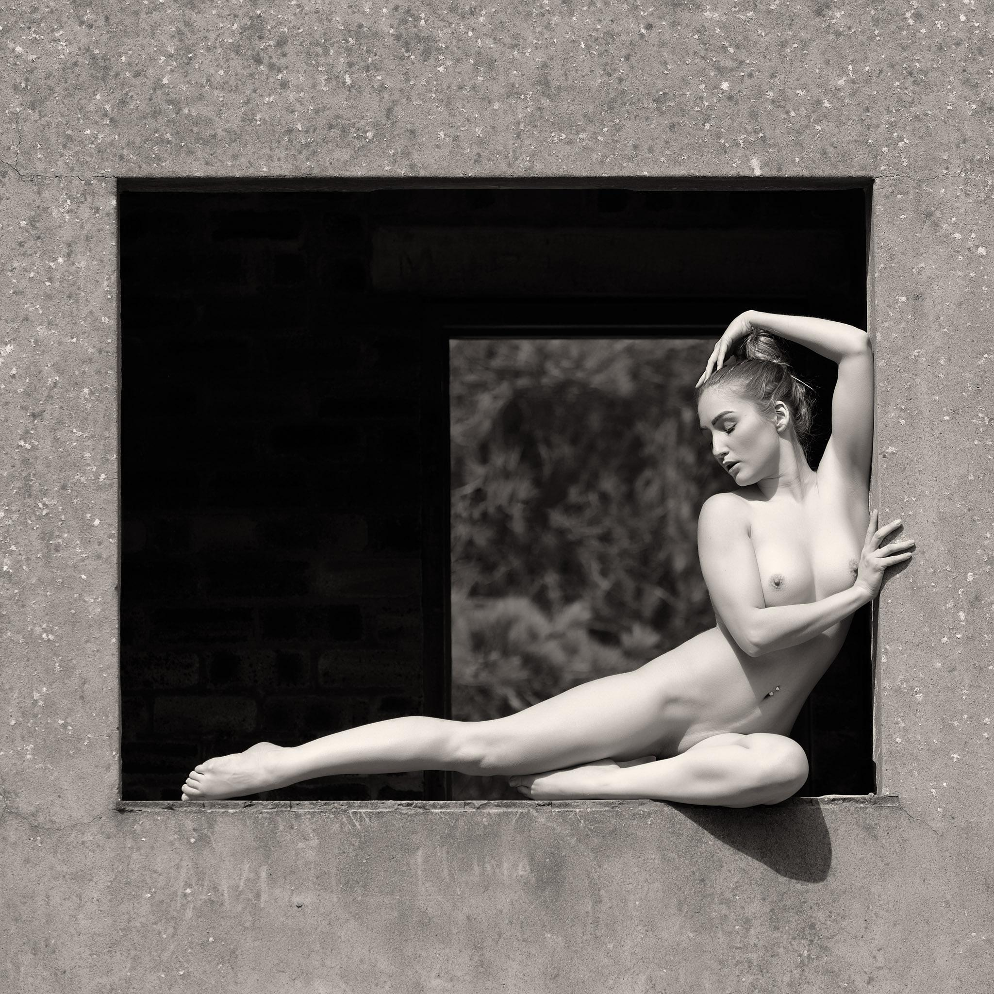 Photo in Nude #nude #outdoors #model #b&w