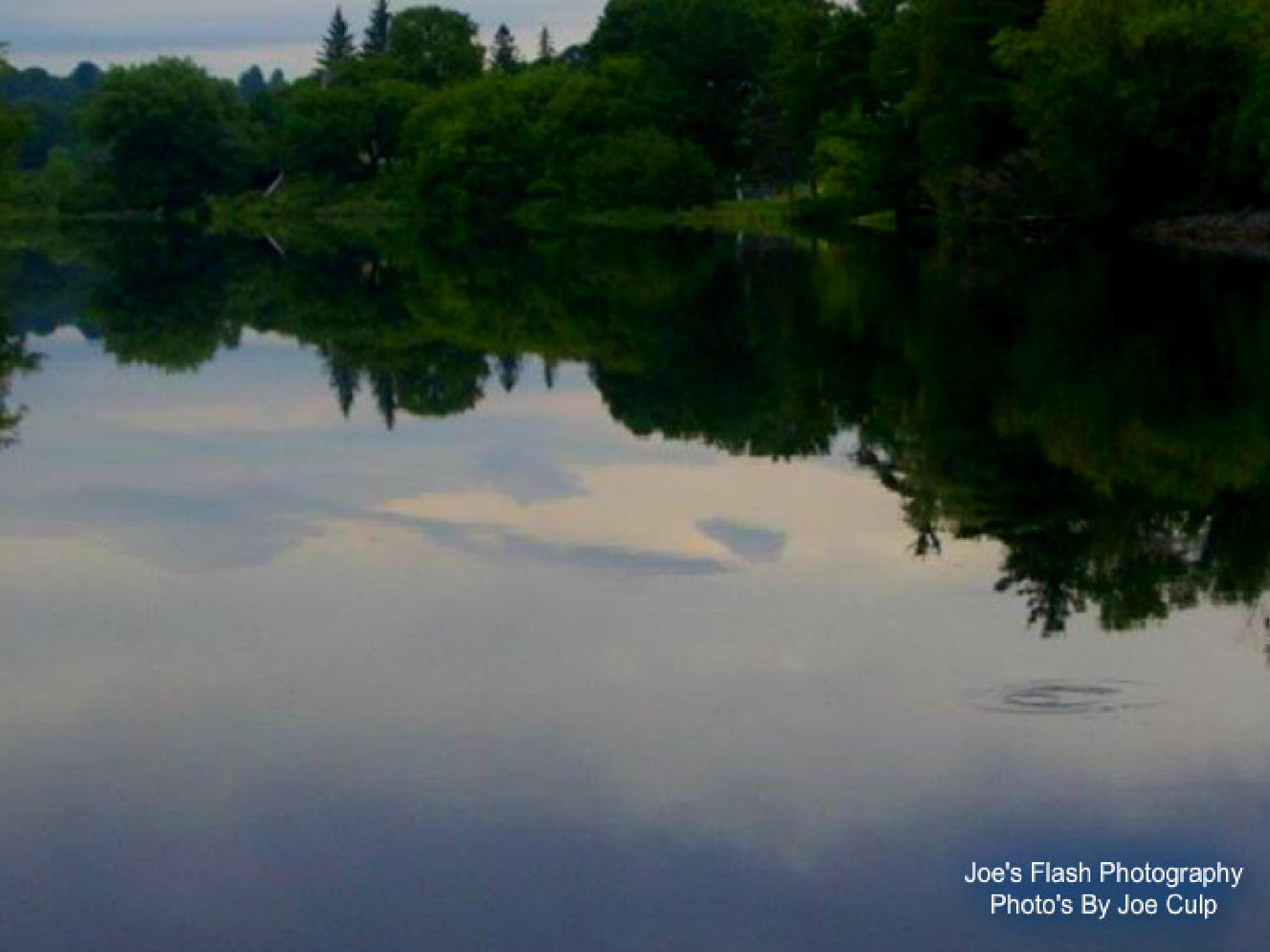 Clear Morning Reflections on the Seguin River Parry Sound by Joe's Flash Photography...Photo's By Joe Culp