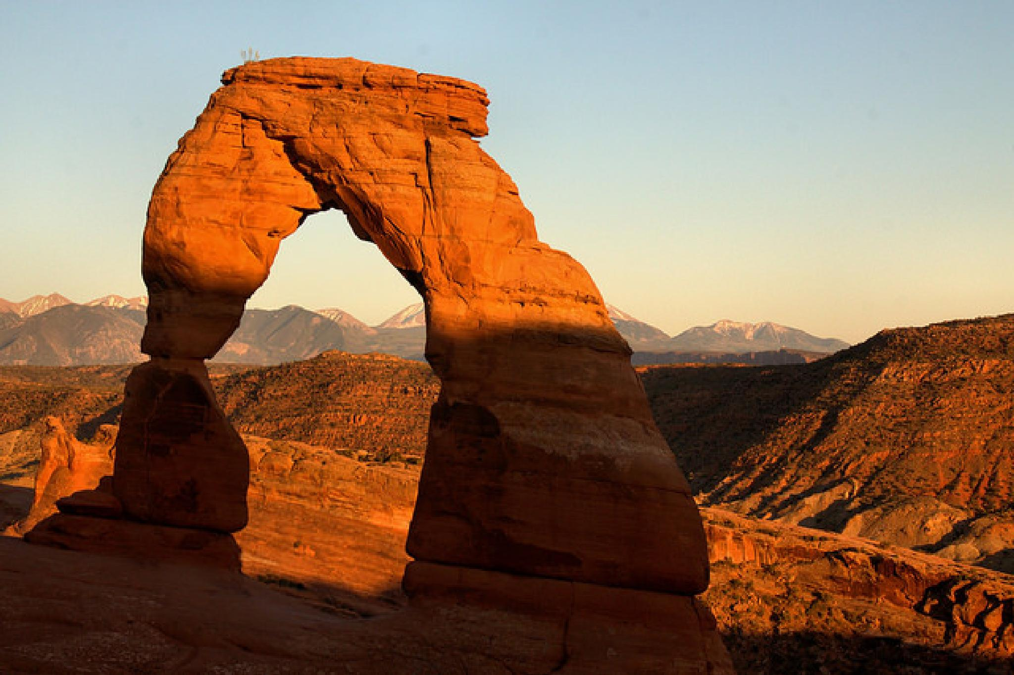 Photo in Landscape #arch #national park #shadow #rock #delicate arch #arches #sunset