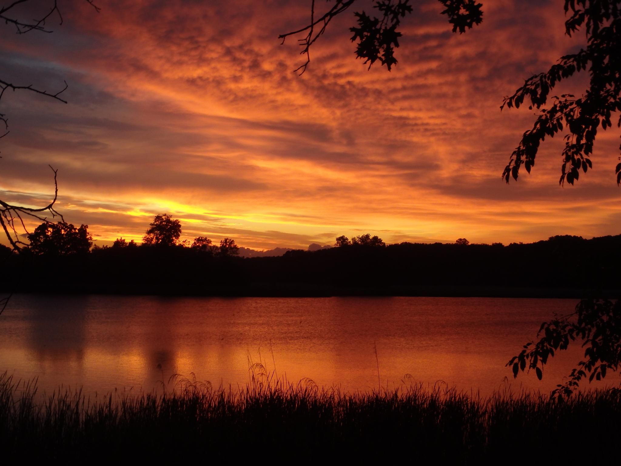 Photo in Landscape #storm #sunset #clouds #silouette #golden #olympus #tough #minnesota #lake