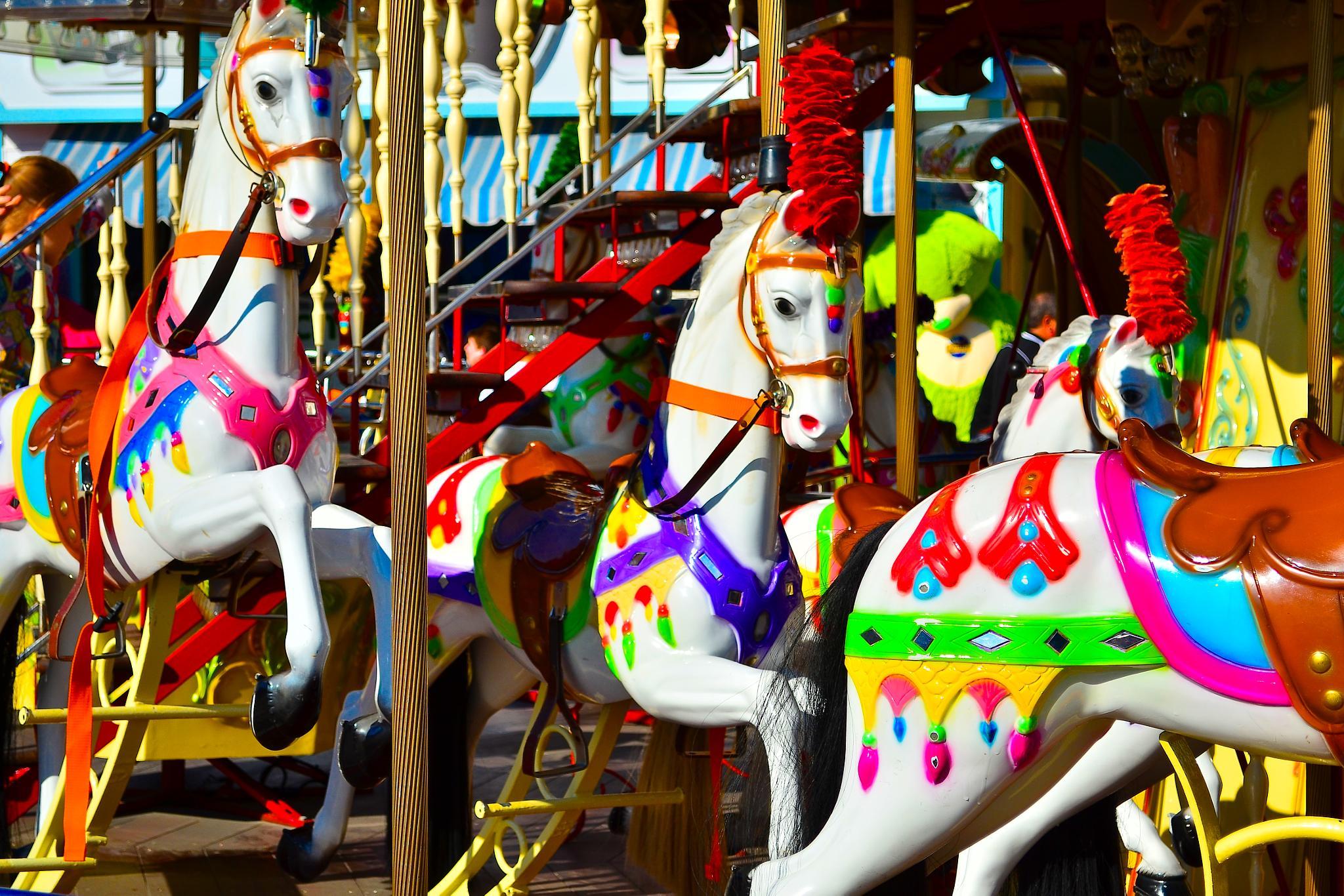 Photo in Random #merry-go-round #carnival #ride #horses #bright #colorful