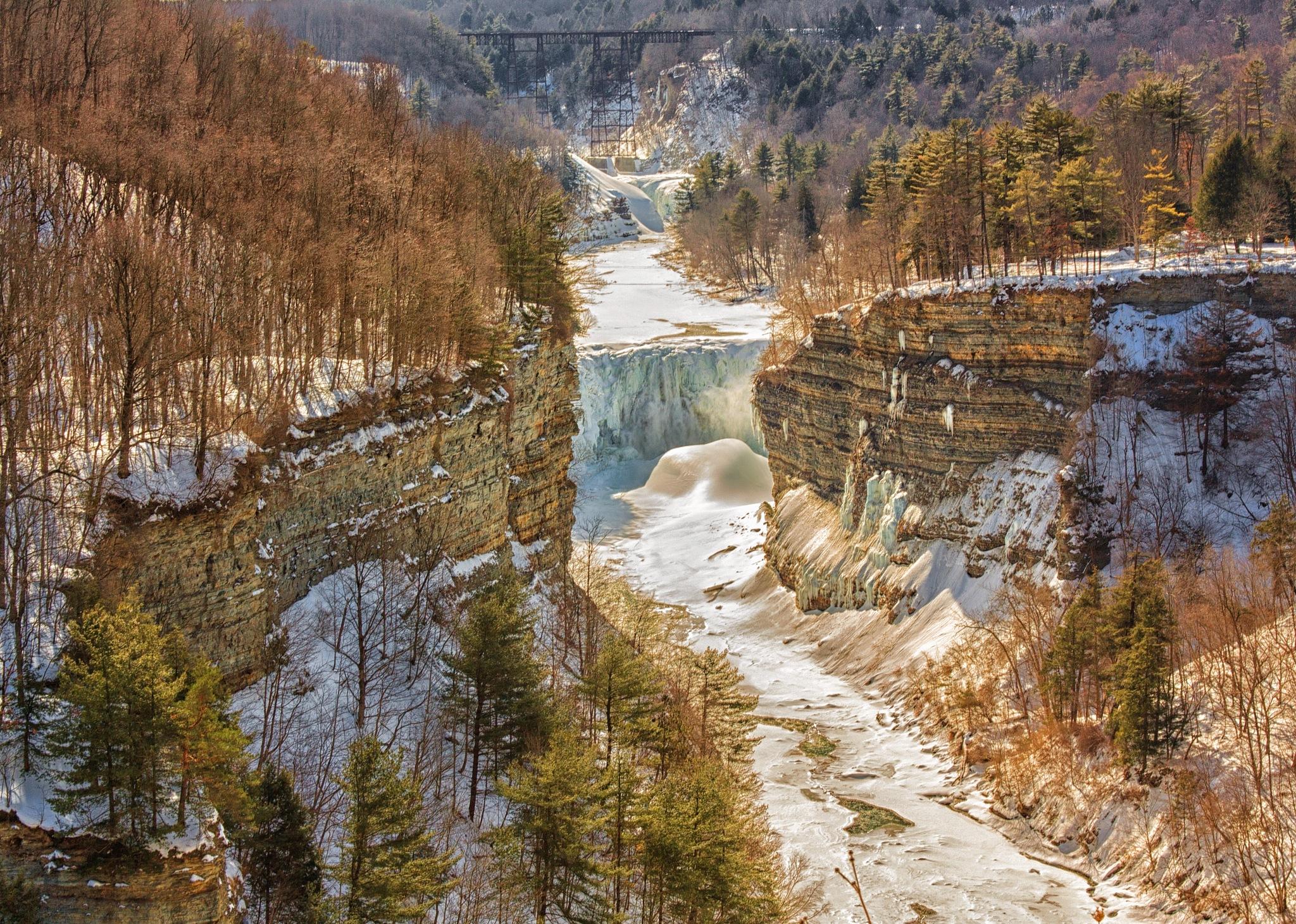 Frozen River Gorge by JackieandTom Daunce