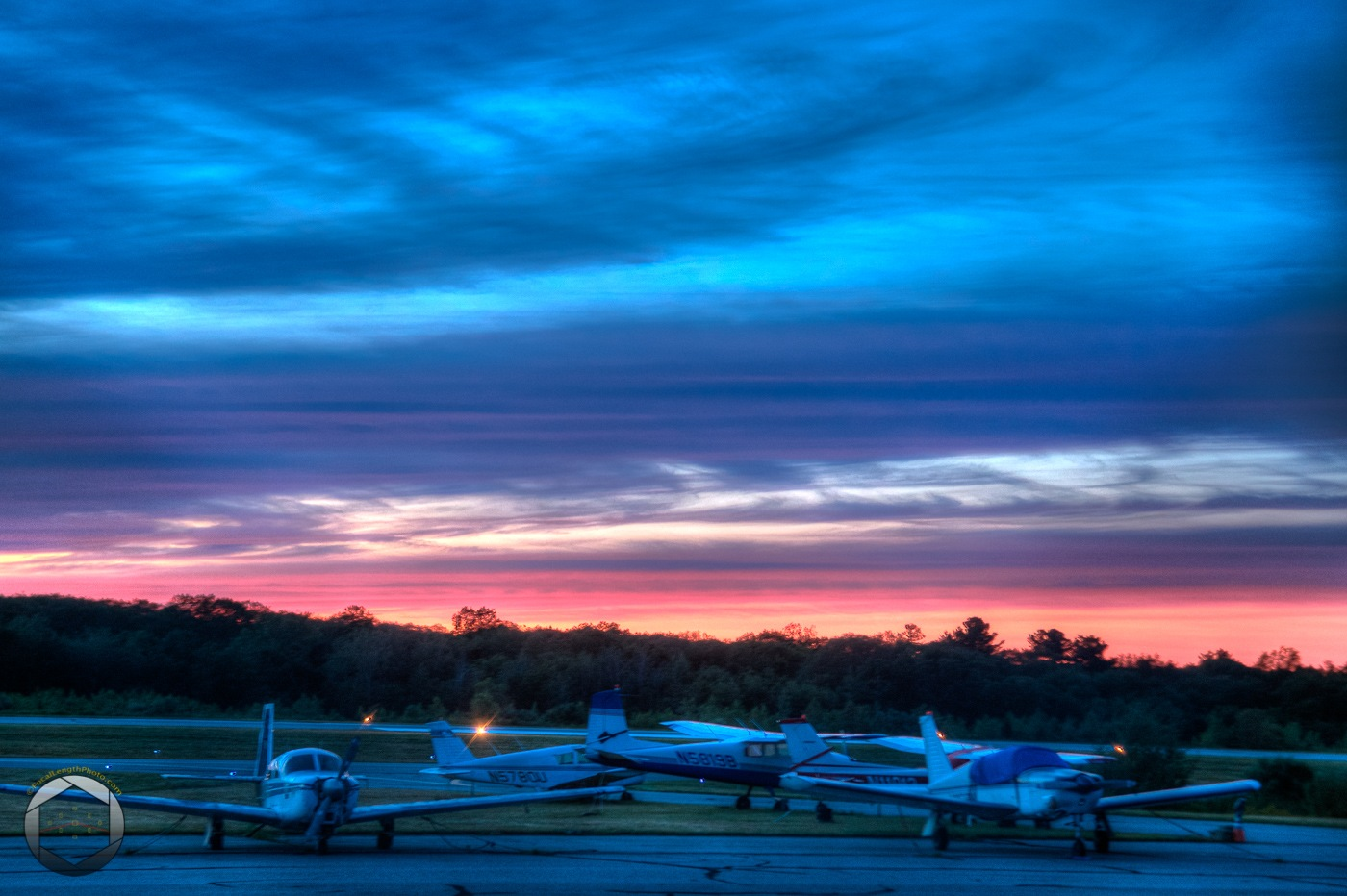 Sunset at the airport by jbrissettephoto