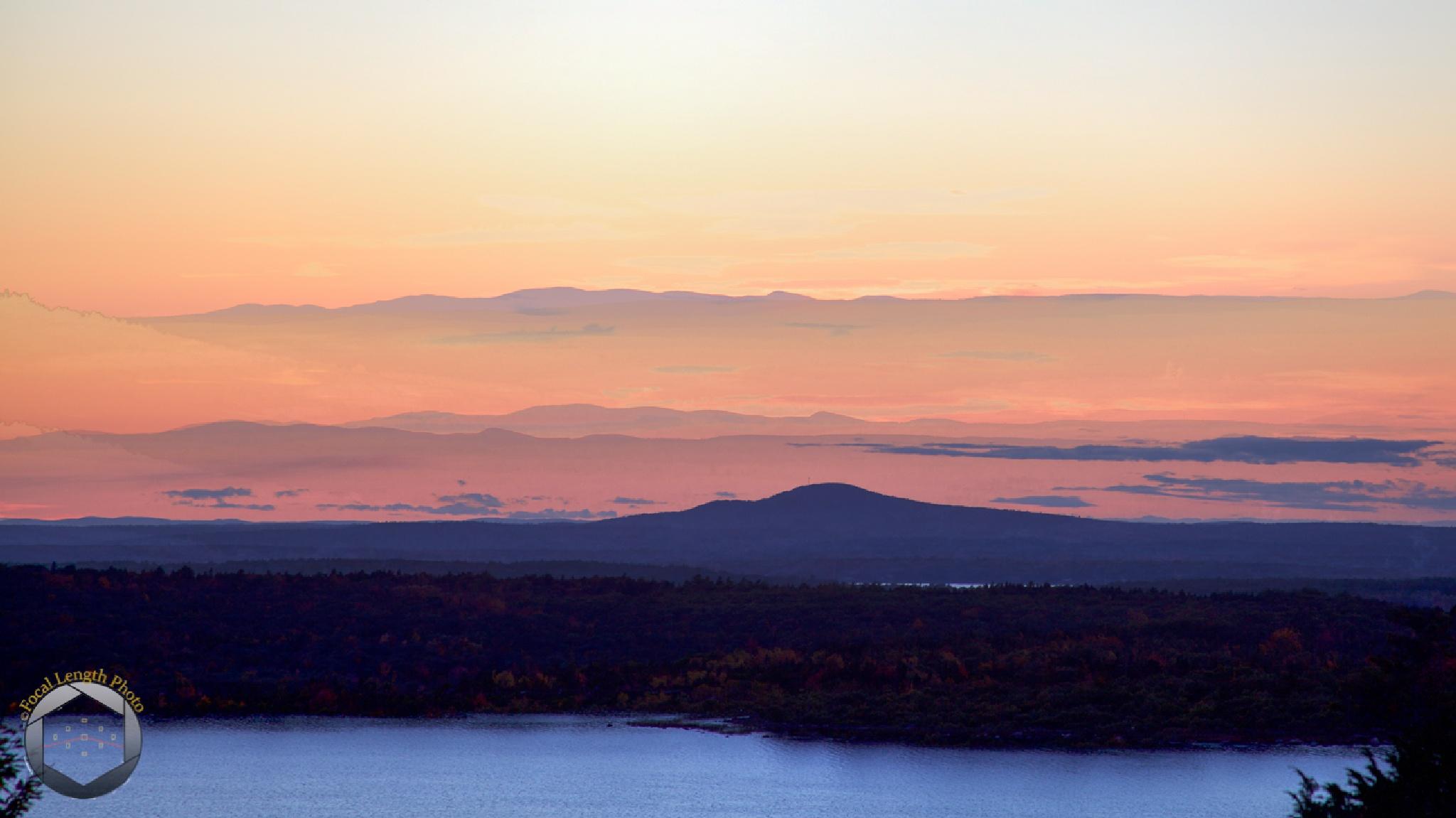 Eagle Pond Sunset - Acadia National Park by jbrissettephoto