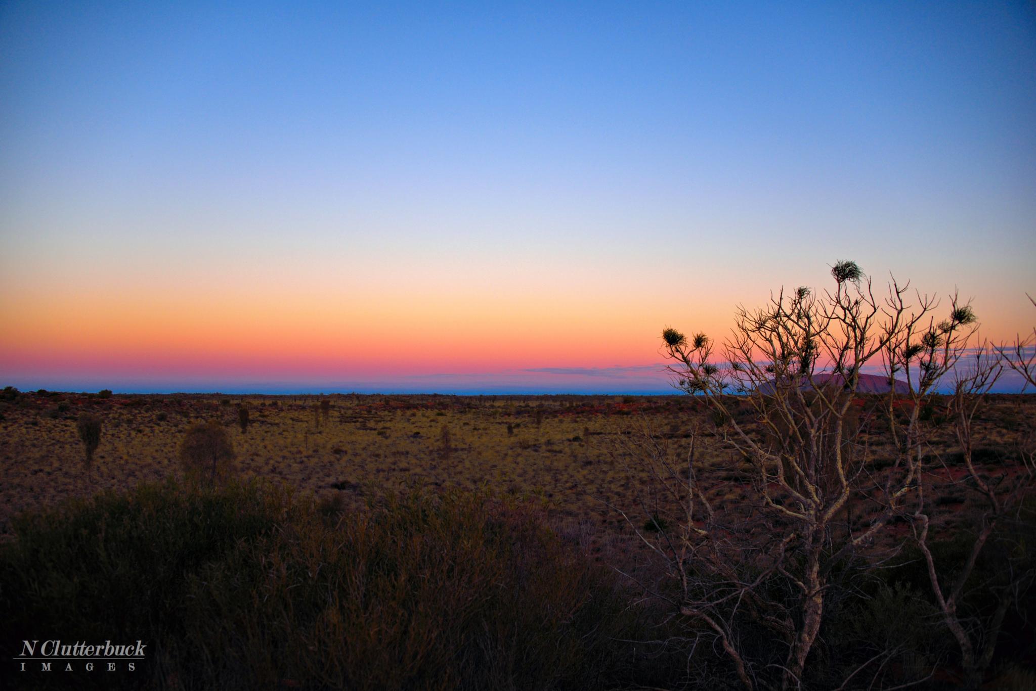 Sunset Over Uluru by Tash Clutterbuck