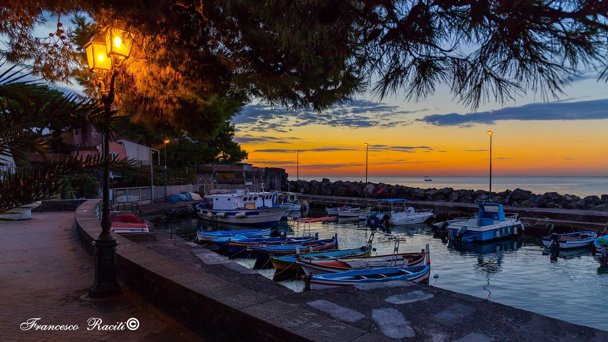 small seaport village by Francesco Raciti