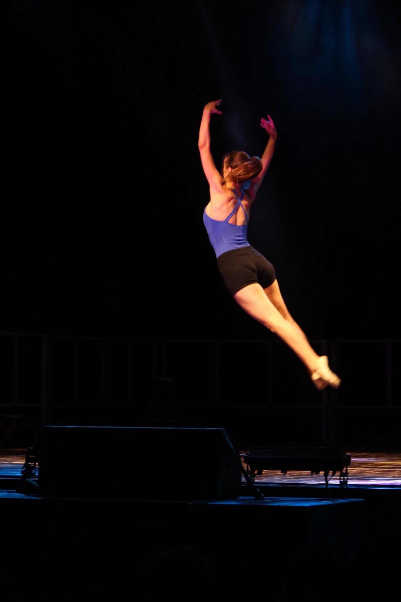 Photo in Sports #dance #jump #dark #blue