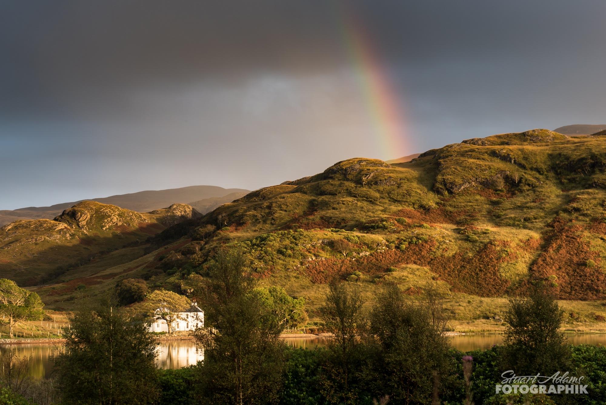 Loch Uisg Rainbow by Stuart Adams Fotographik